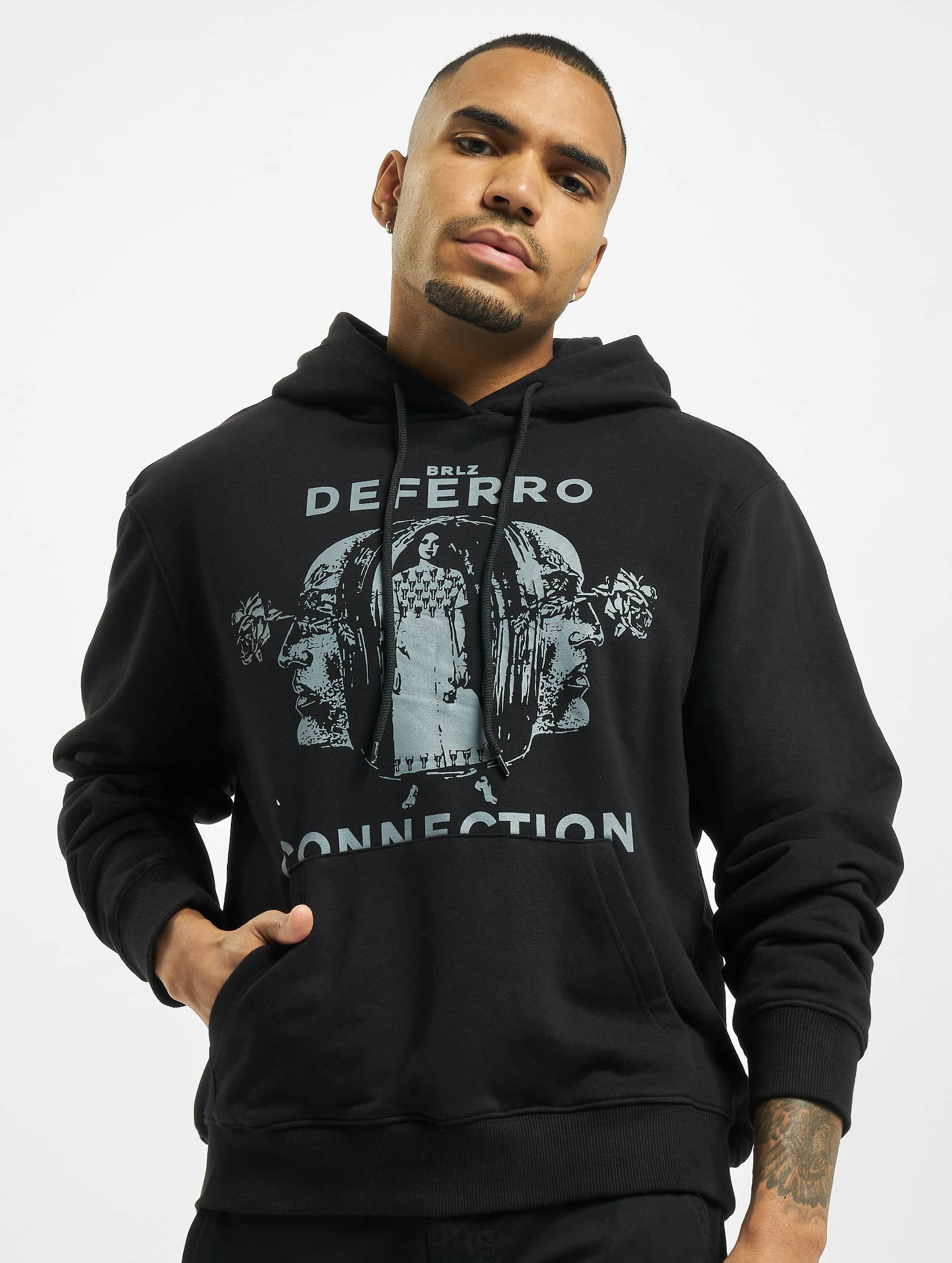 De Ferro / Hoodie Hood Connect in black XL