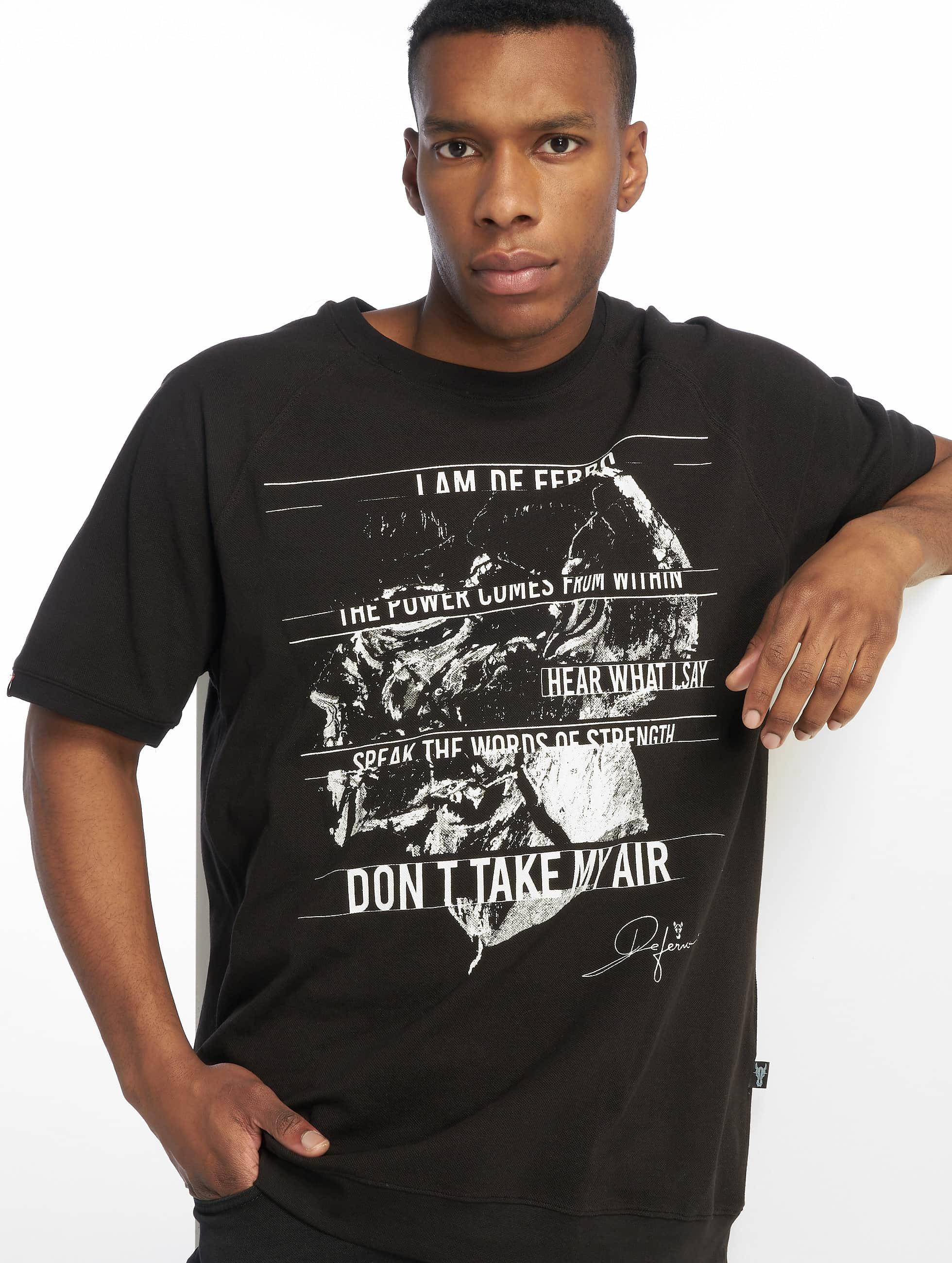 De Ferro / T-Shirt T in black S