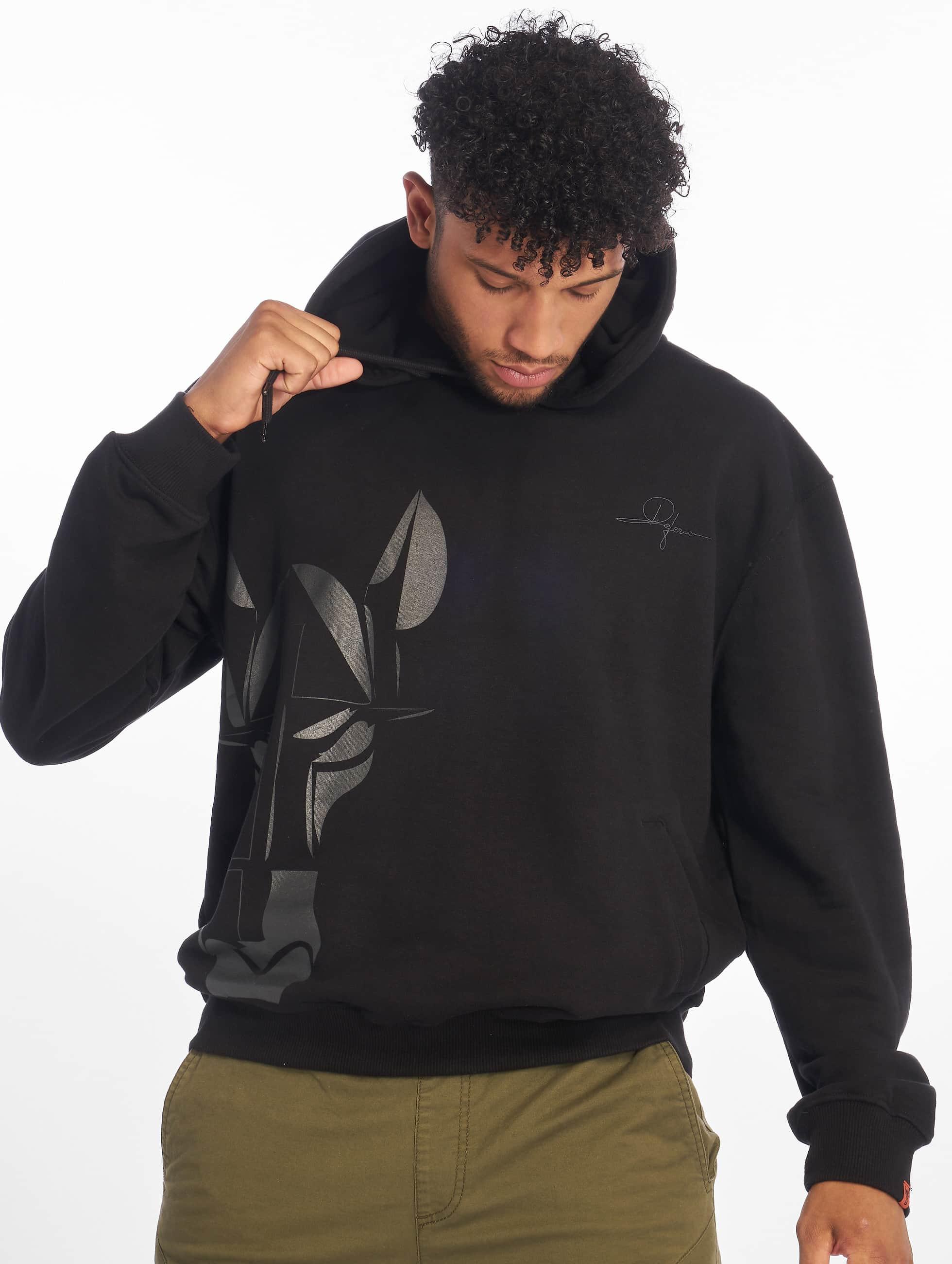 De Ferro / Hoodie Straight Face Hood in black L