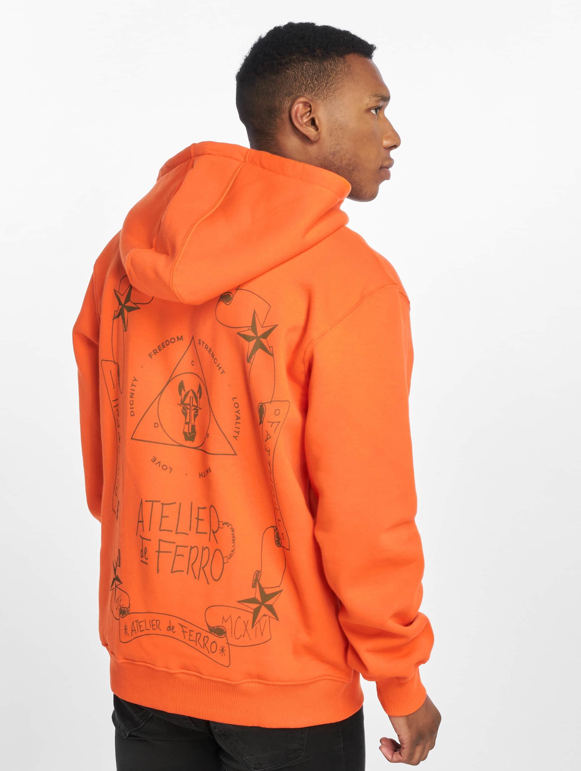 De Ferro / Hoodie Orange Fantasy in orange M
