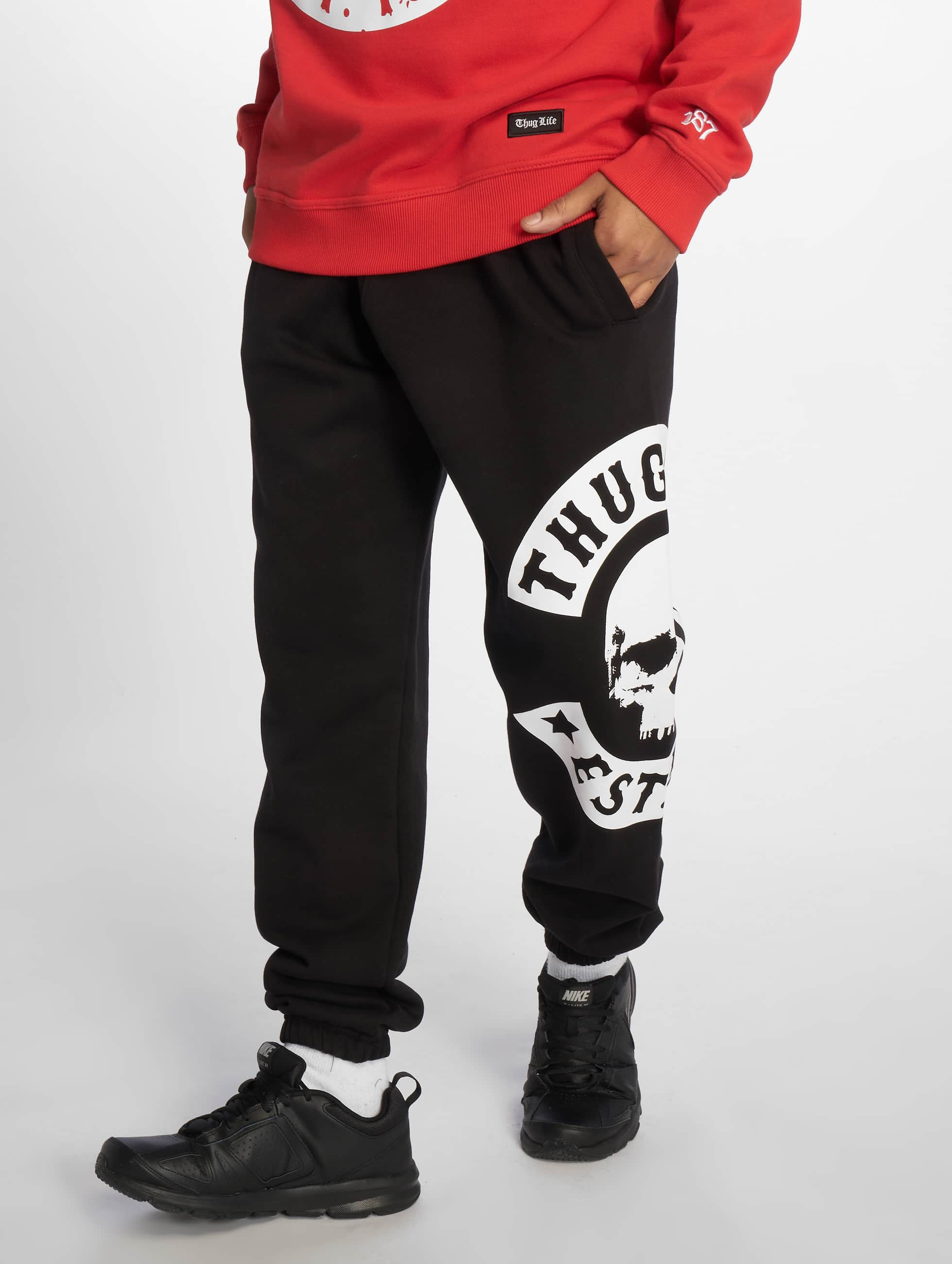 Thug Life / Sweat Pant B.Camo in black XL