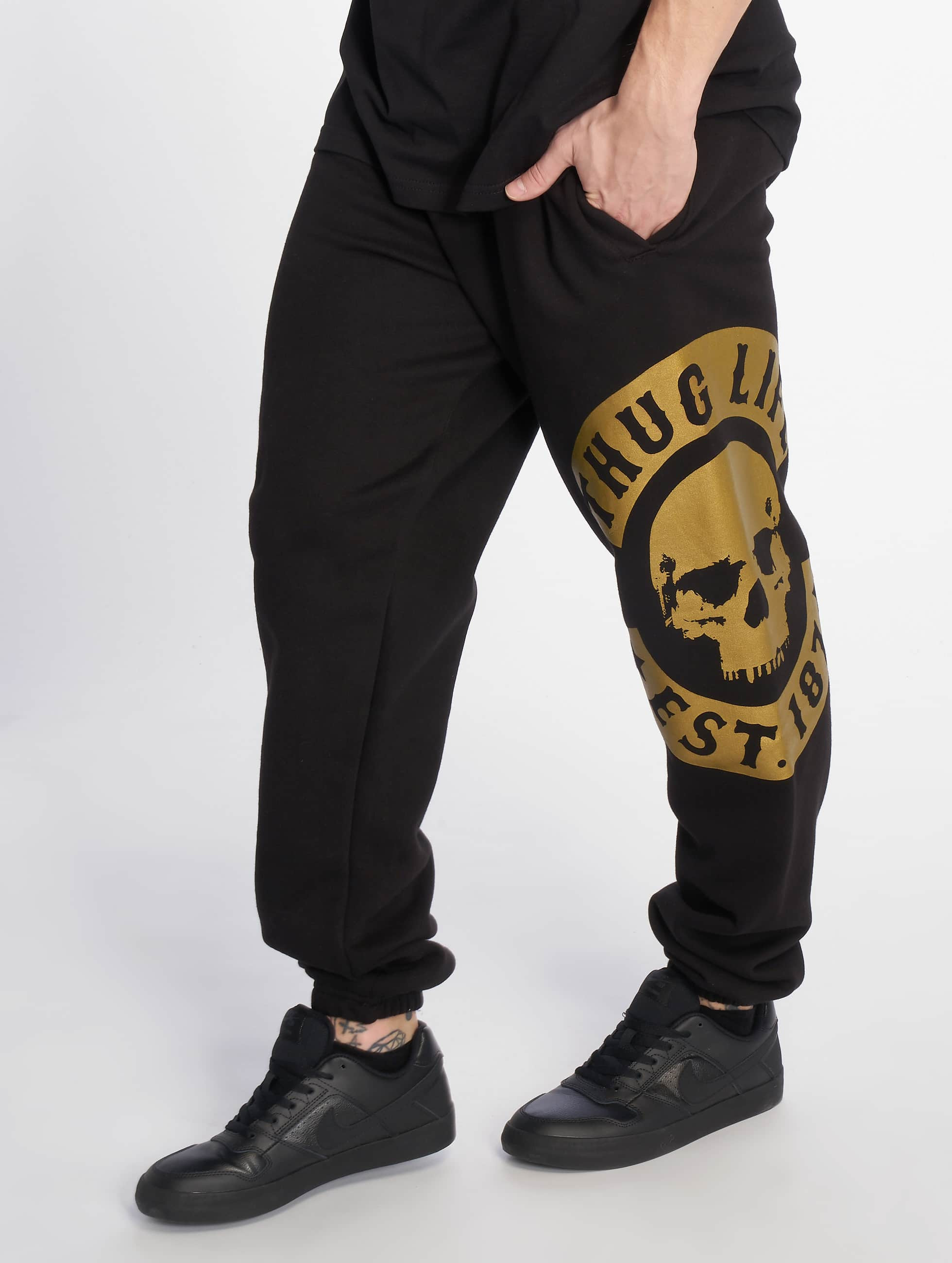 Thug Life / Sweat Pant B.Camo in black 2XL