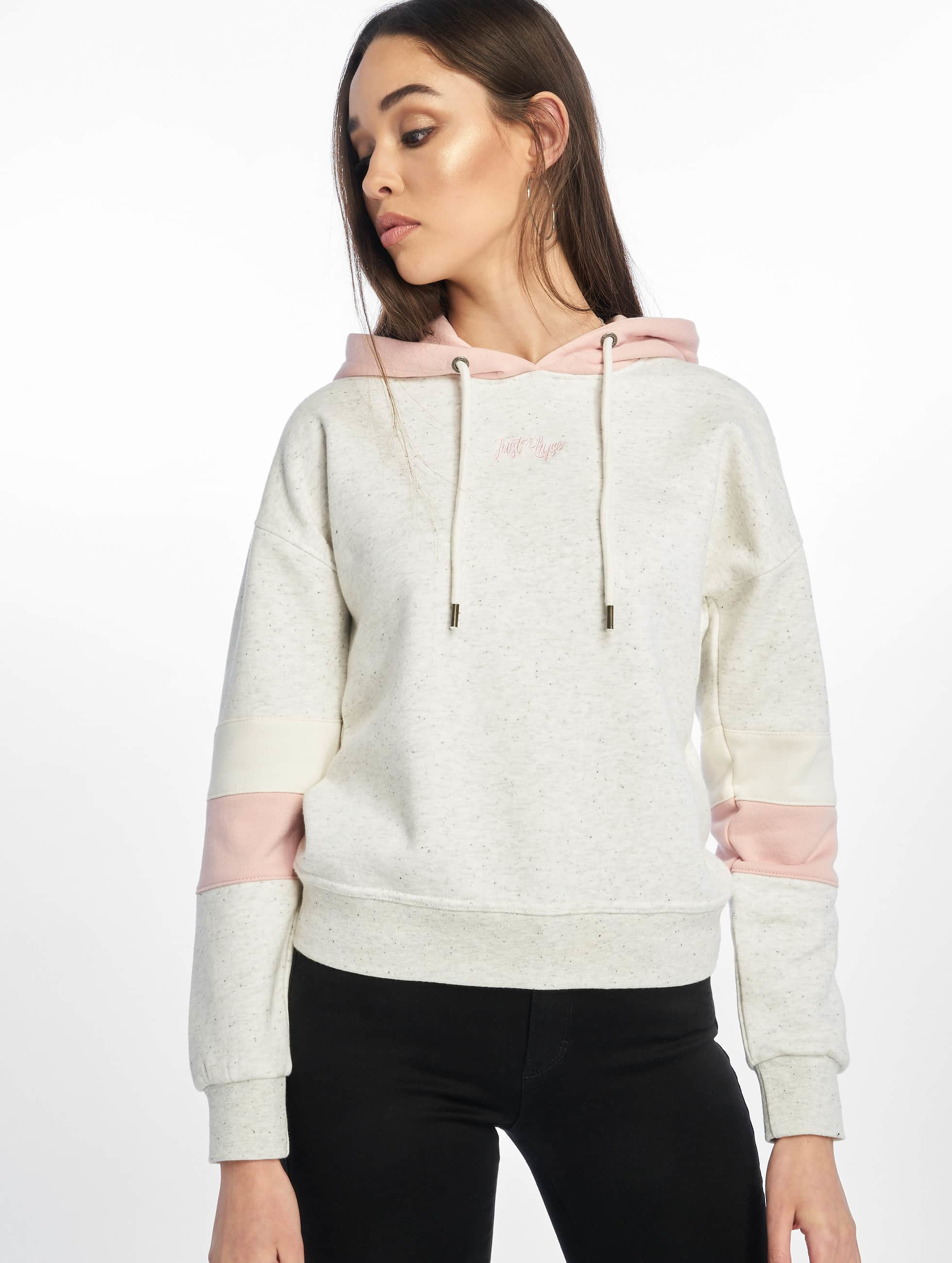 Just Rhyse / Hoodie Hollow Hills in white XS