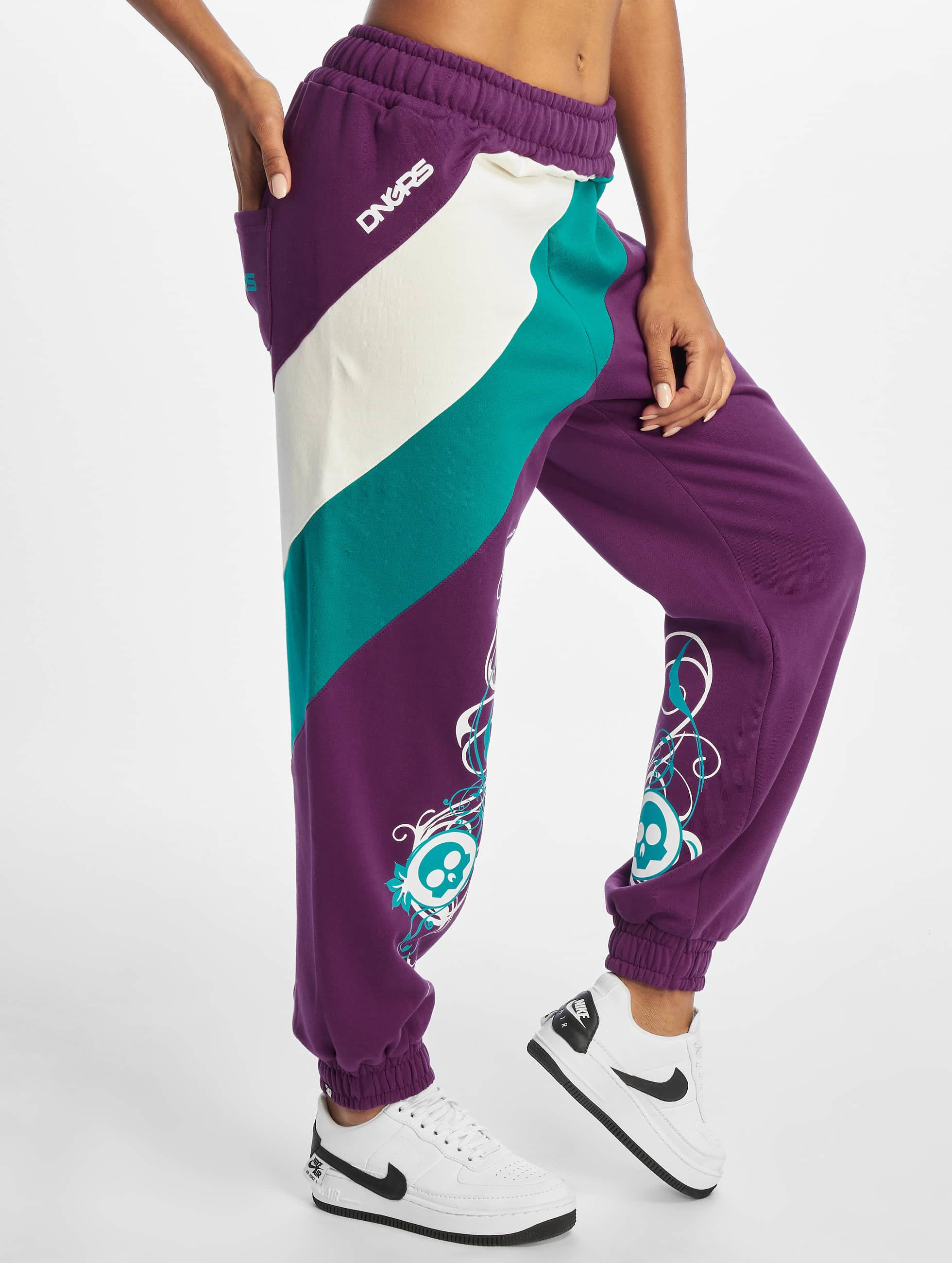 Dangerous DNGRS / Sweat Pant Skull in purple XXL