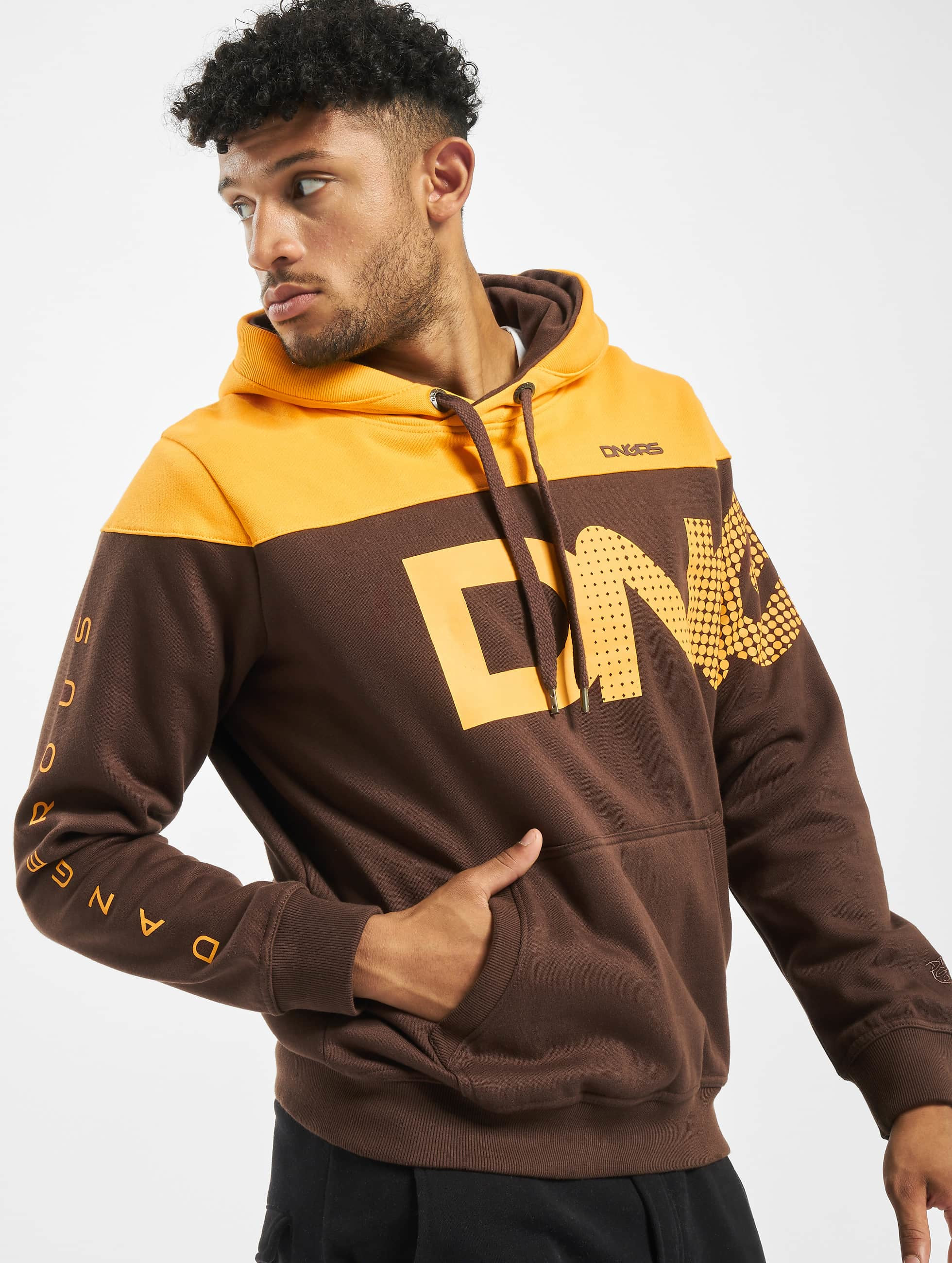 Dangerous DNGRS / Hoodie Gino in brown XL