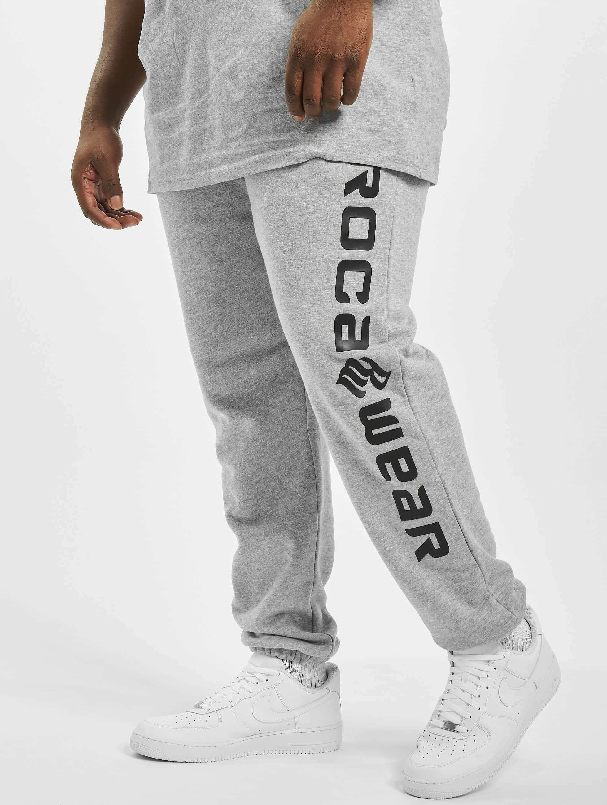 Rocawear / Sweat Pant Big Basic Fleece in grey 8XL