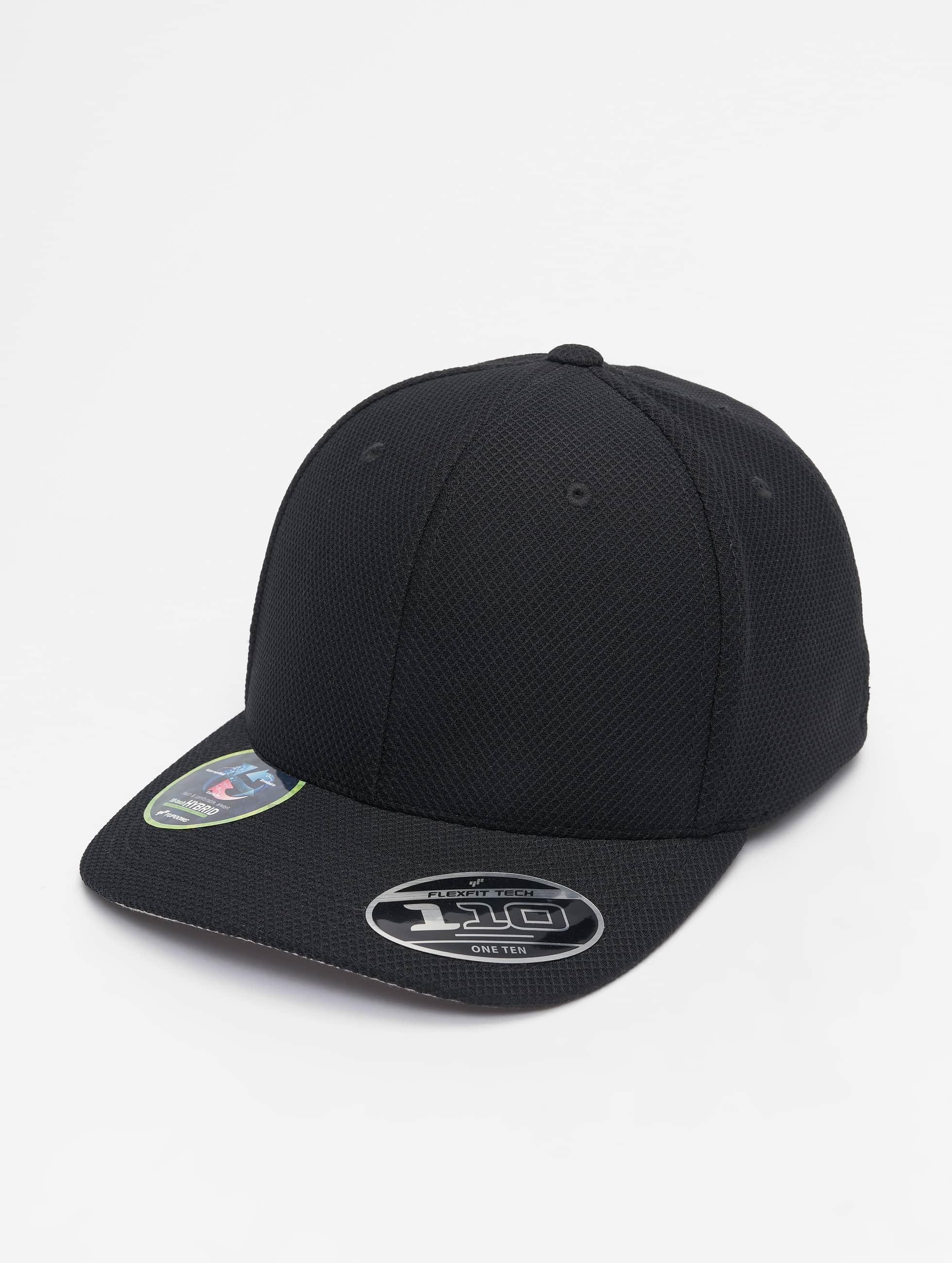 Flexfit | 110 Velcro Hybrid noir Homme,Femme Casquette Snapback & Strapback