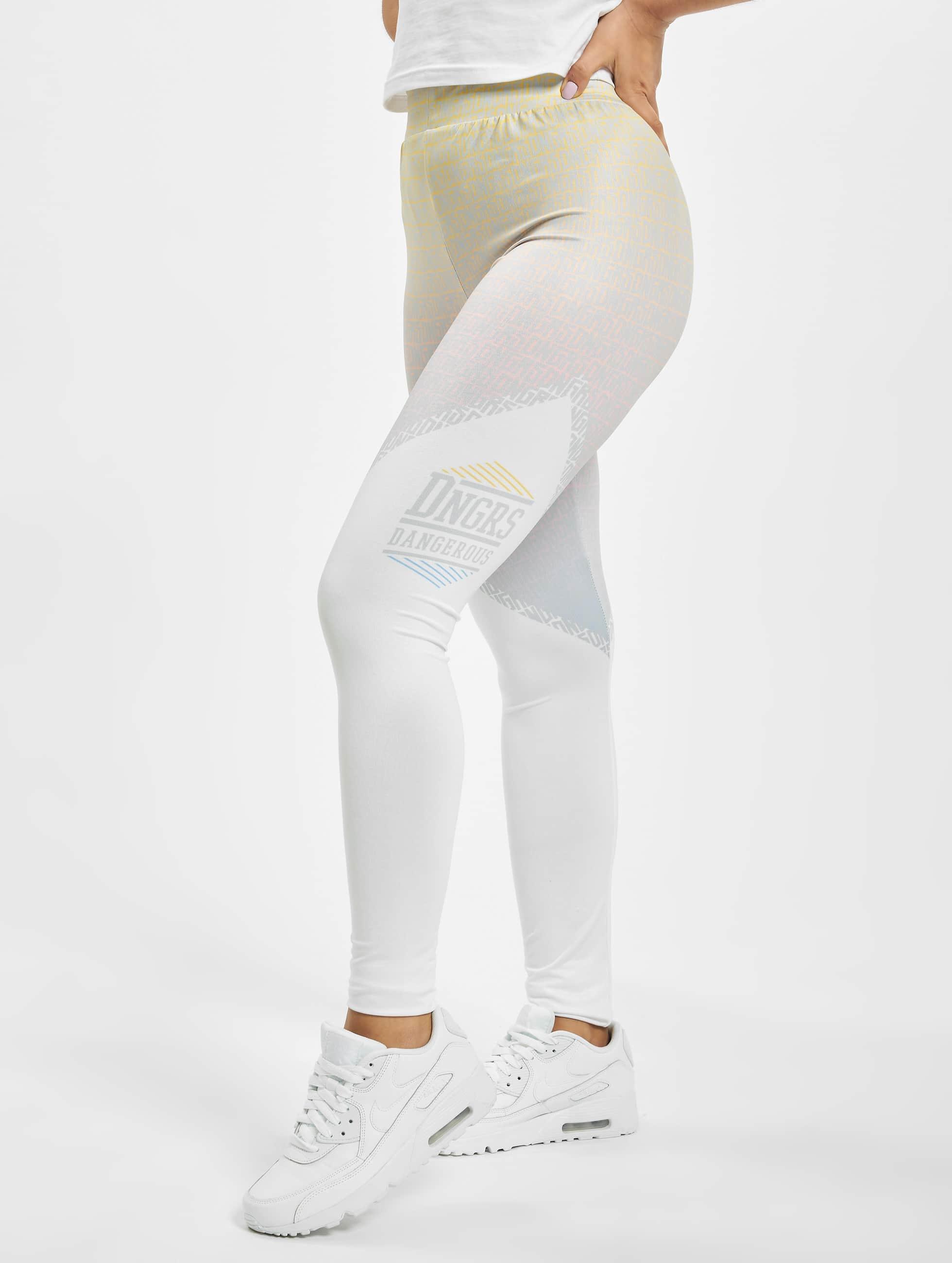 Dangerous DNGRS / Legging/Tregging Tackle in white XXS