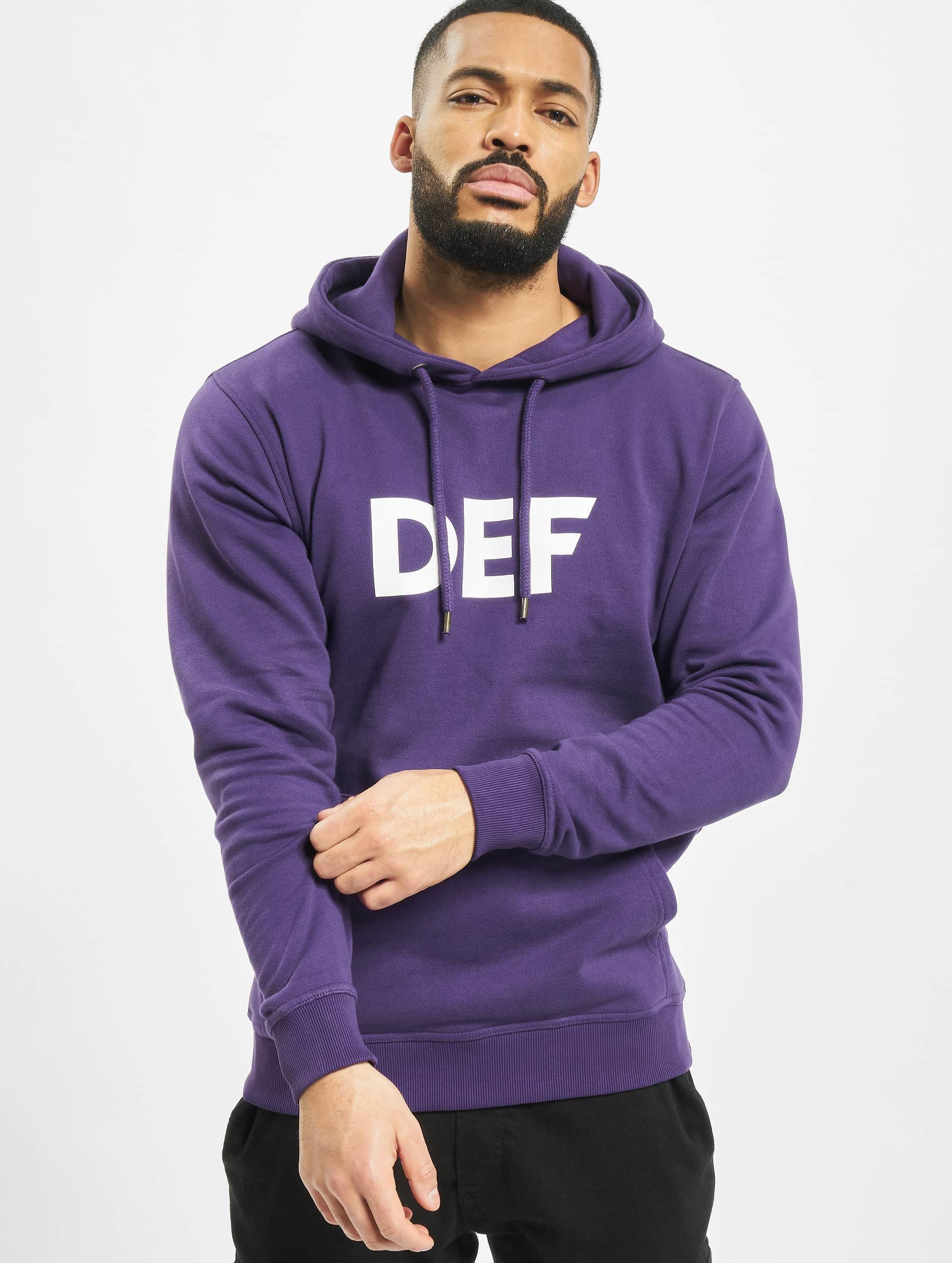 DEF / Hoodie Til Death in purple XL