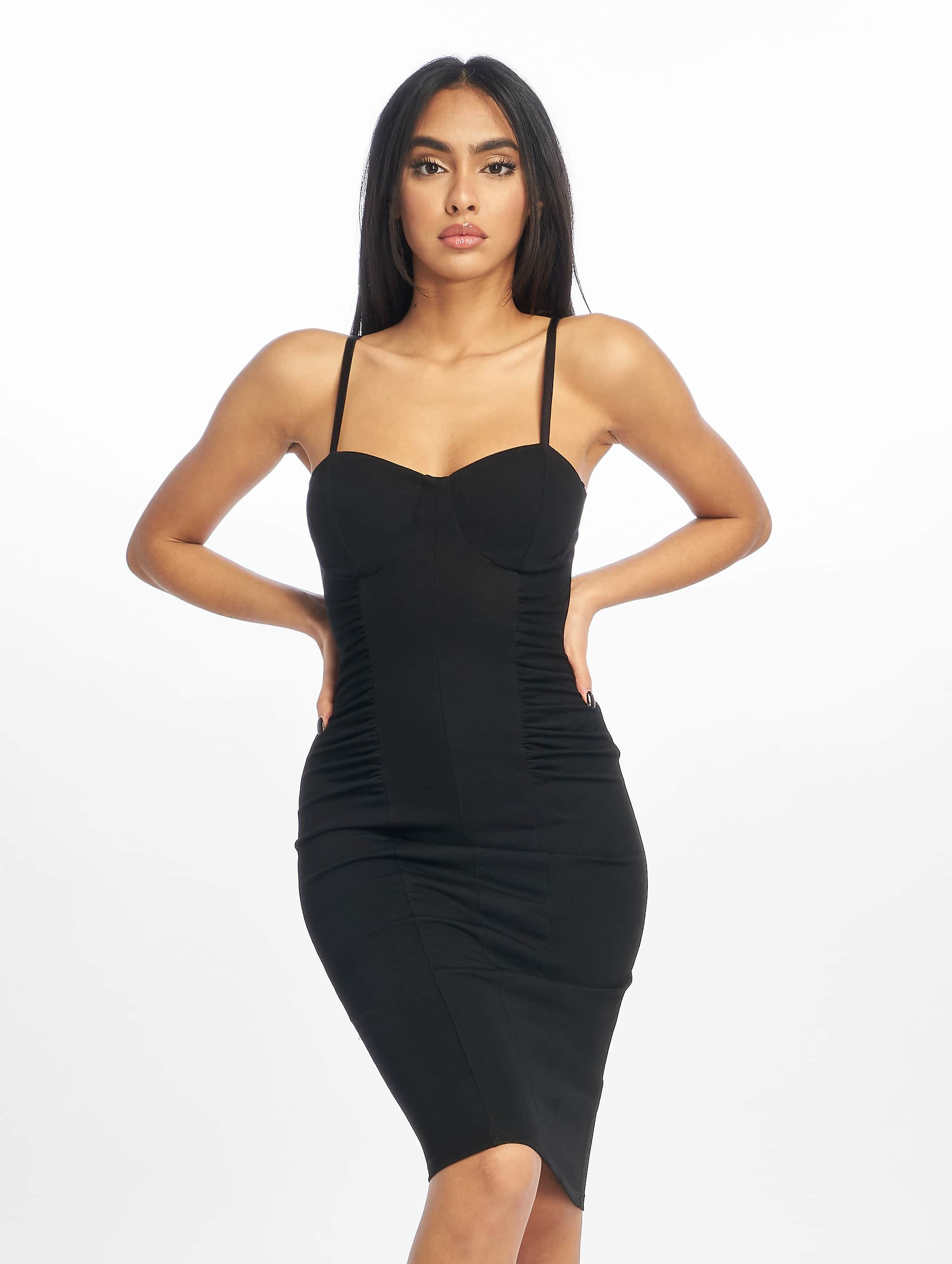 New Look | Go Corset DTL Ruch Side noir Femme Robe