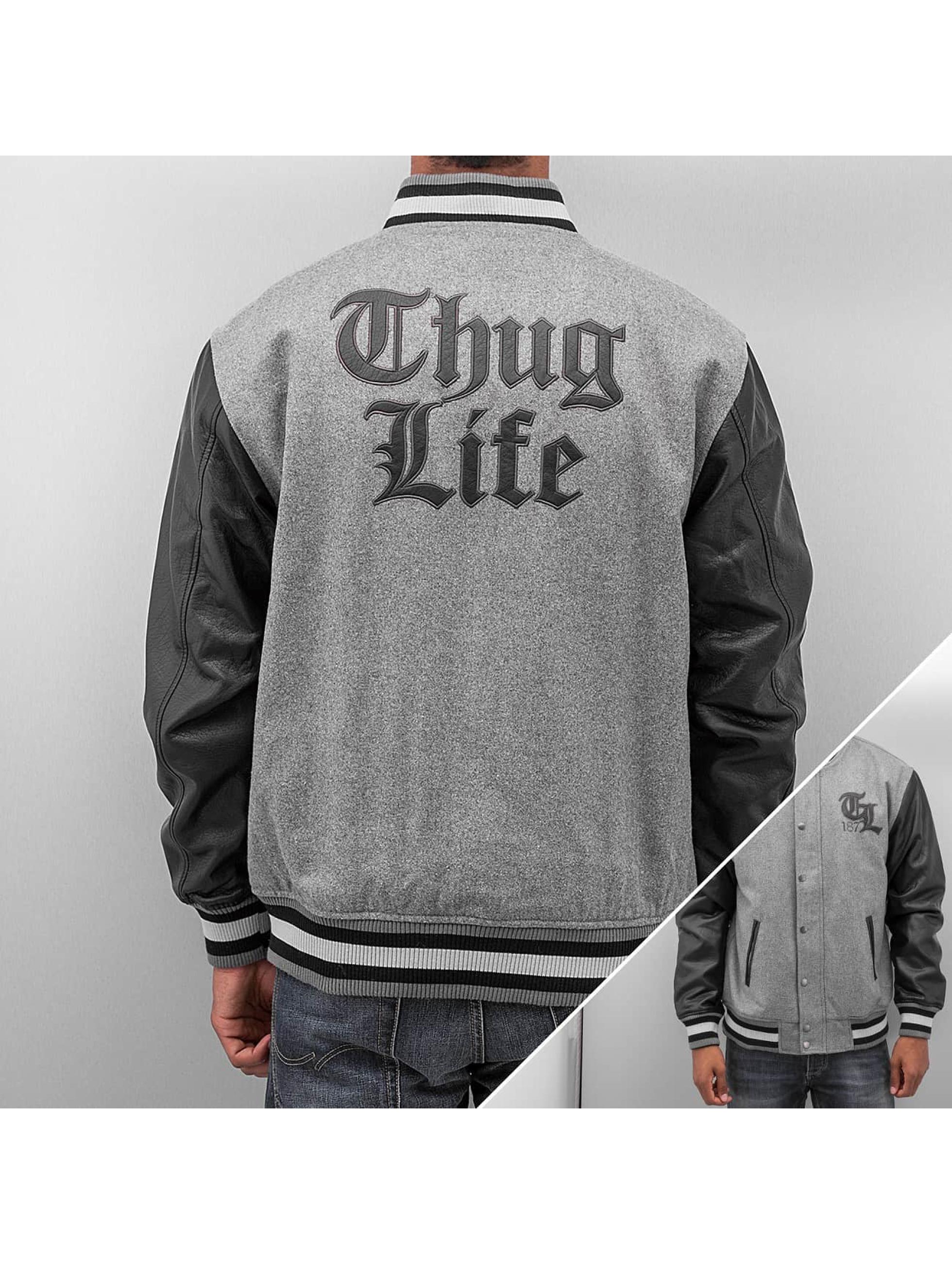 Thug Life TL 187 College Jacket Dark Grey Black