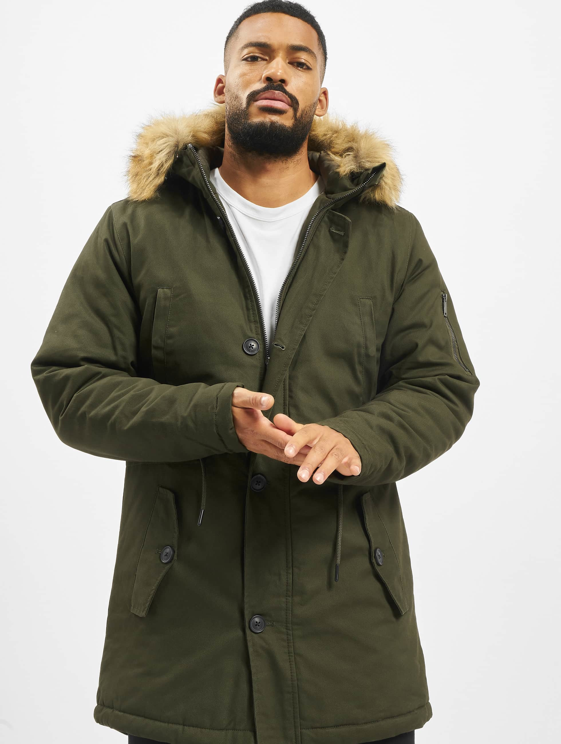 DEF / Winter Jacket Steve in olive L