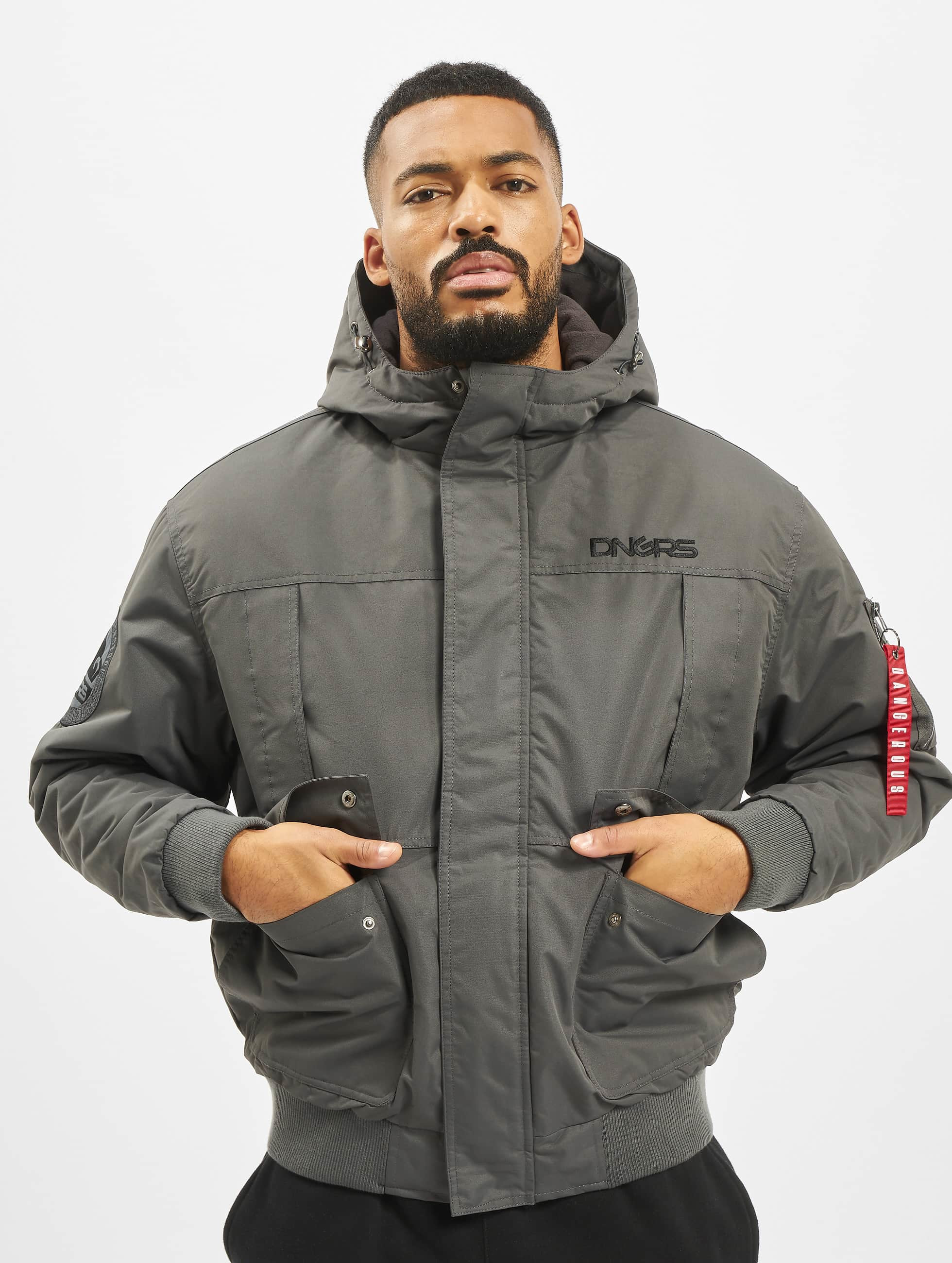Dangerous DNGRS / Winter Jacket Grenadier in grey L