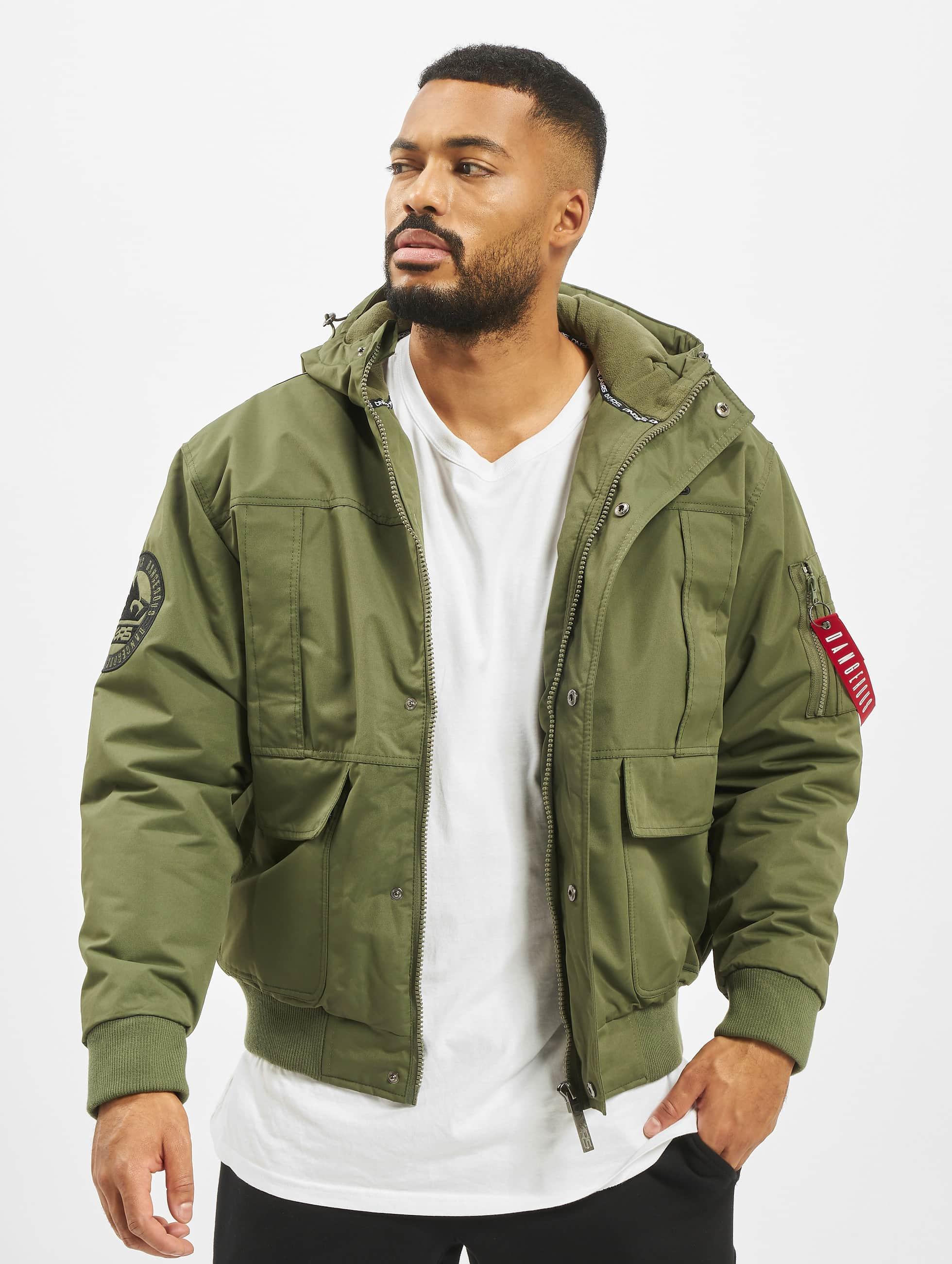 Dangerous DNGRS / Winter Jacket Grenadier in olive XL