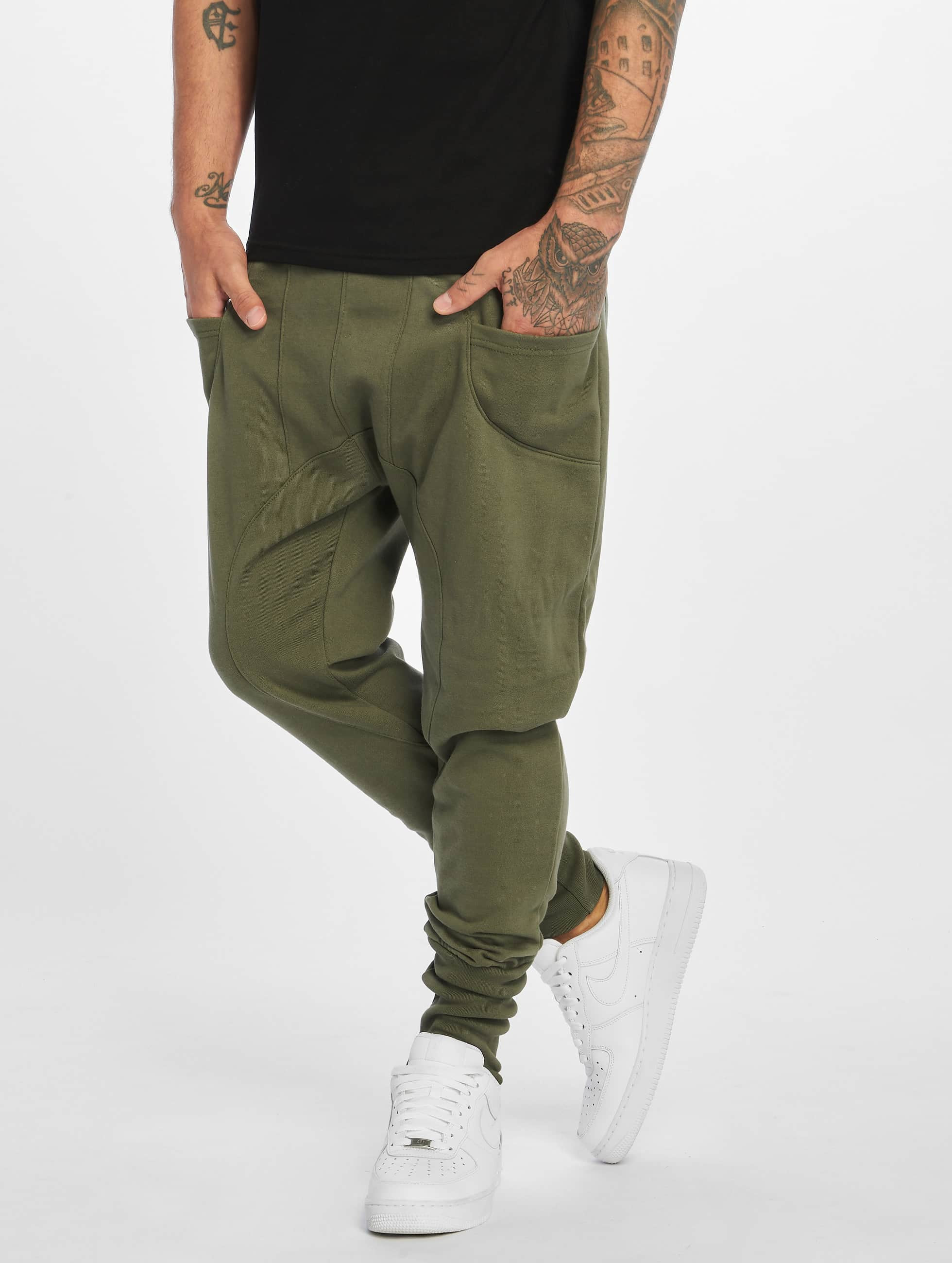DEF / Sweat Pant Birds in olive 2XL