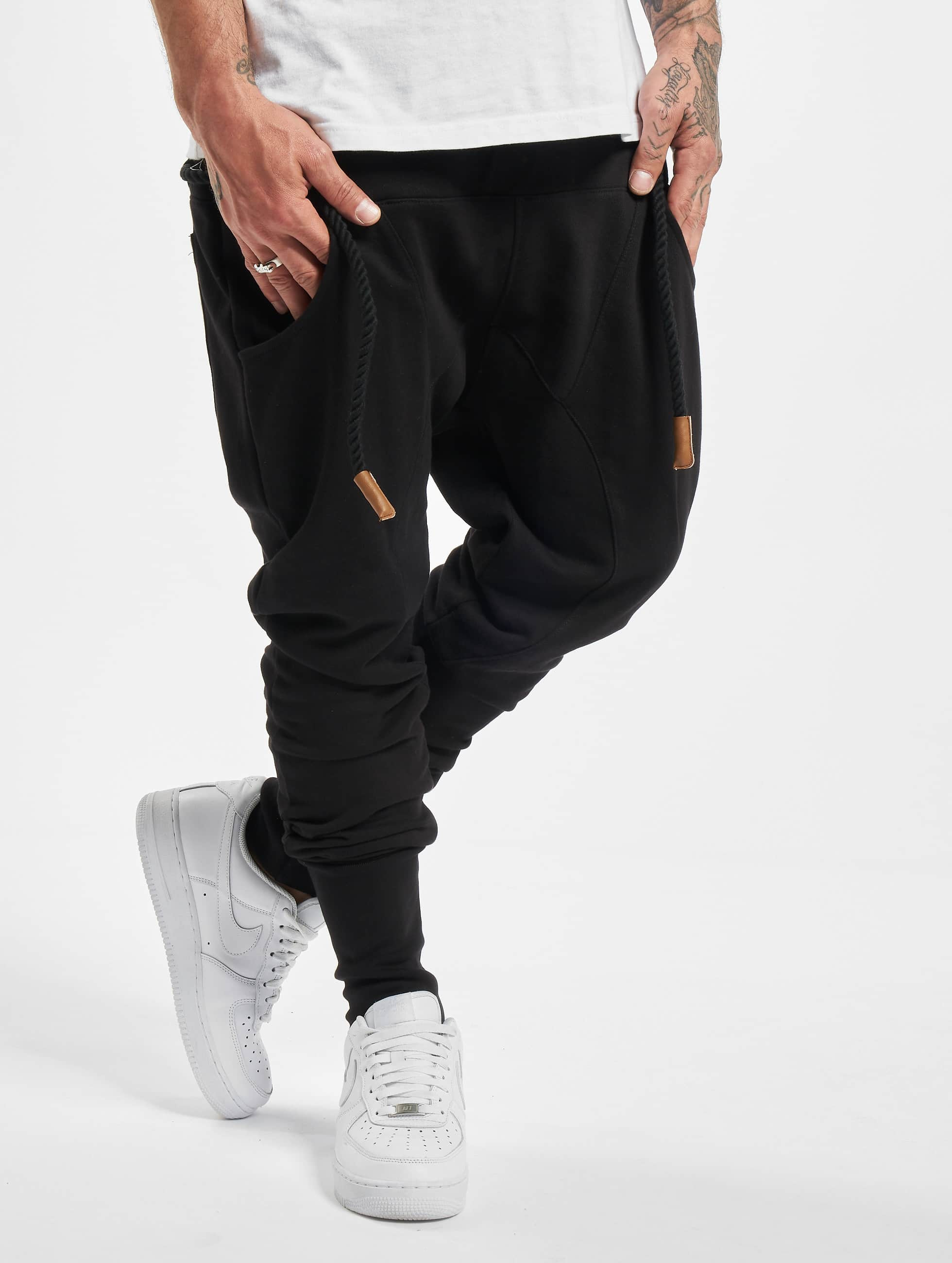 DEF / Sweat Pant Thick Drawstring in black 2XL