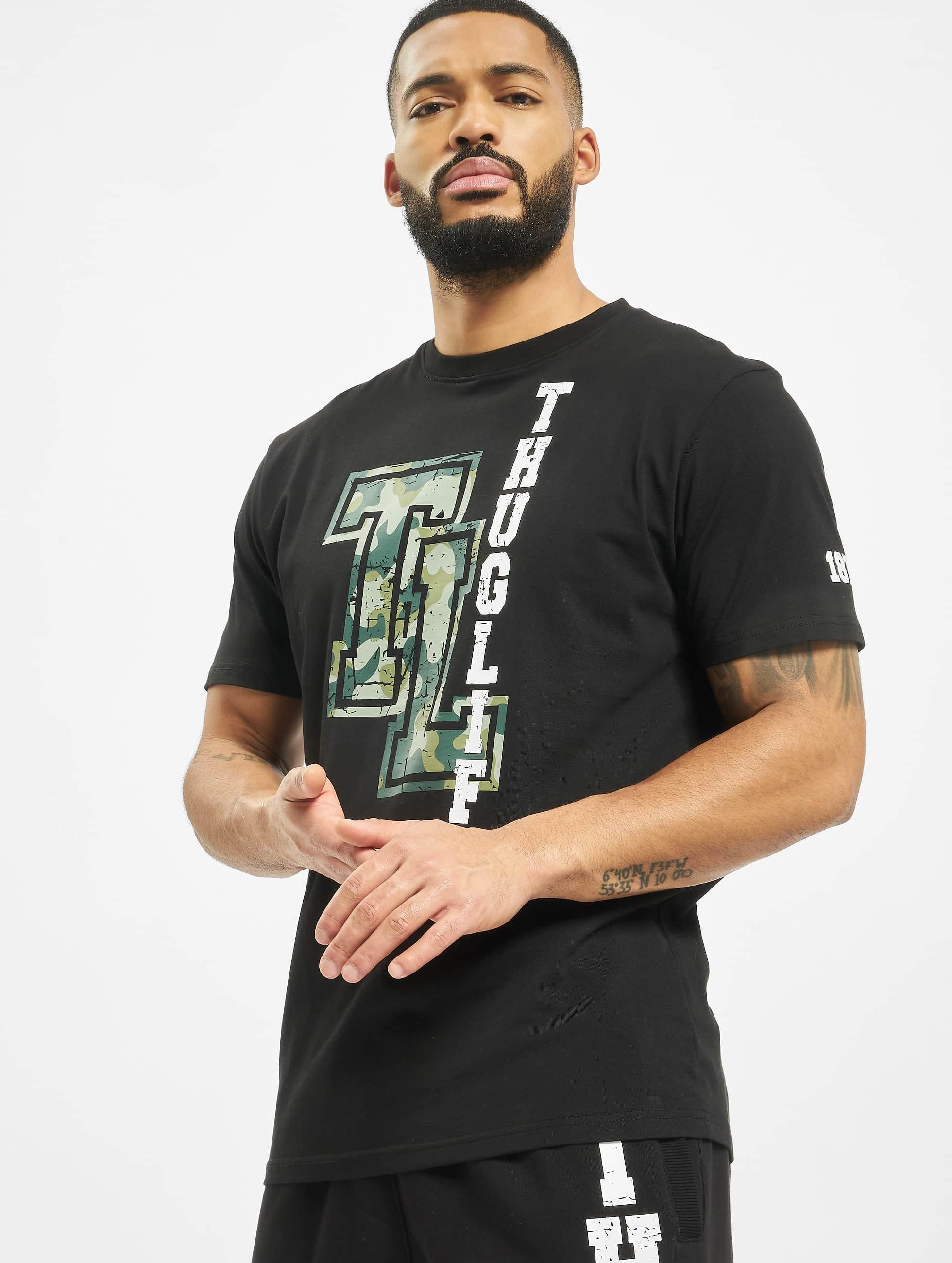Thug Life / T-Shirt Under Pressure in black S