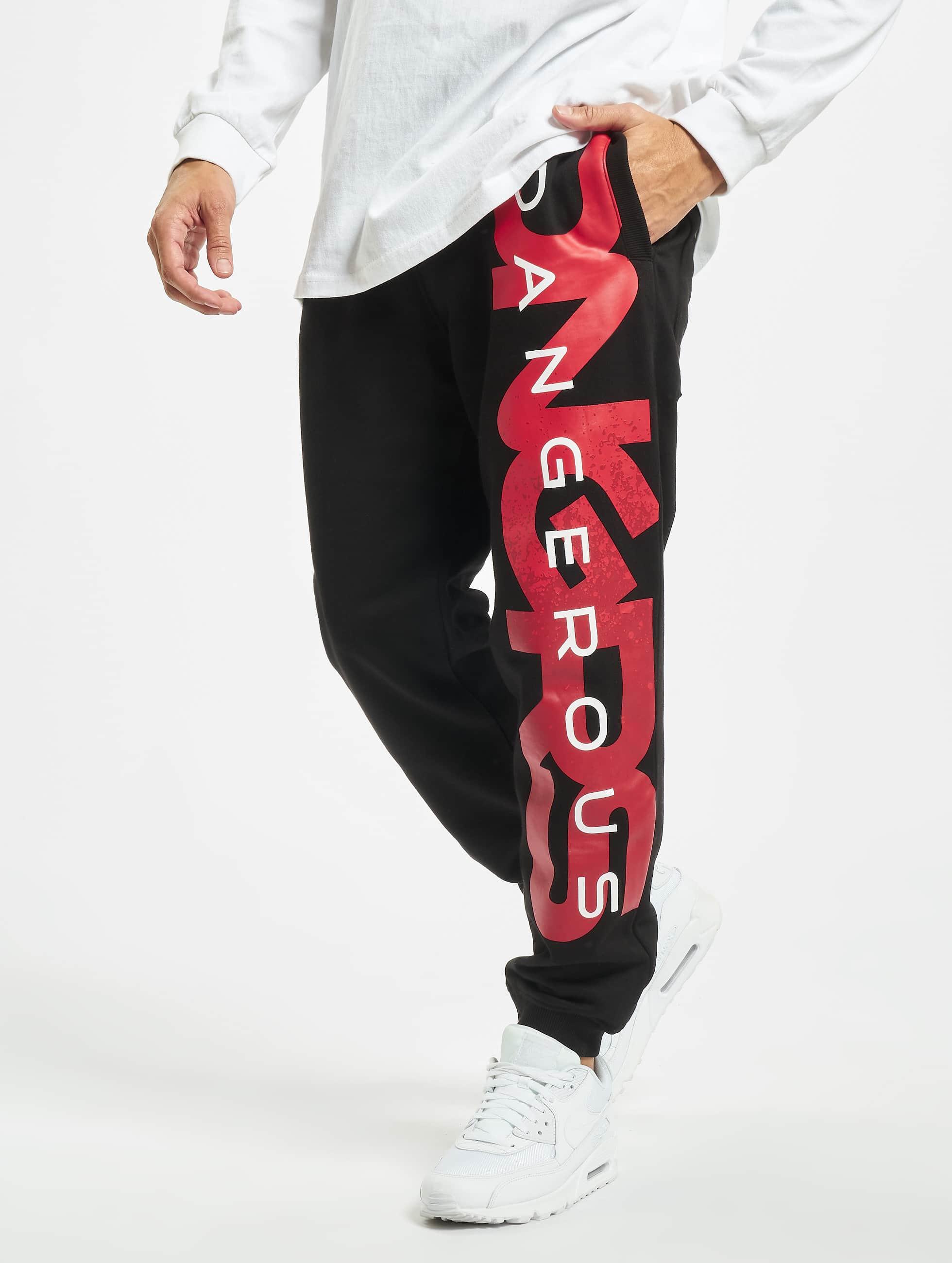 Dangerous DNGRS / Sweat Pant Hyena in black 2XL