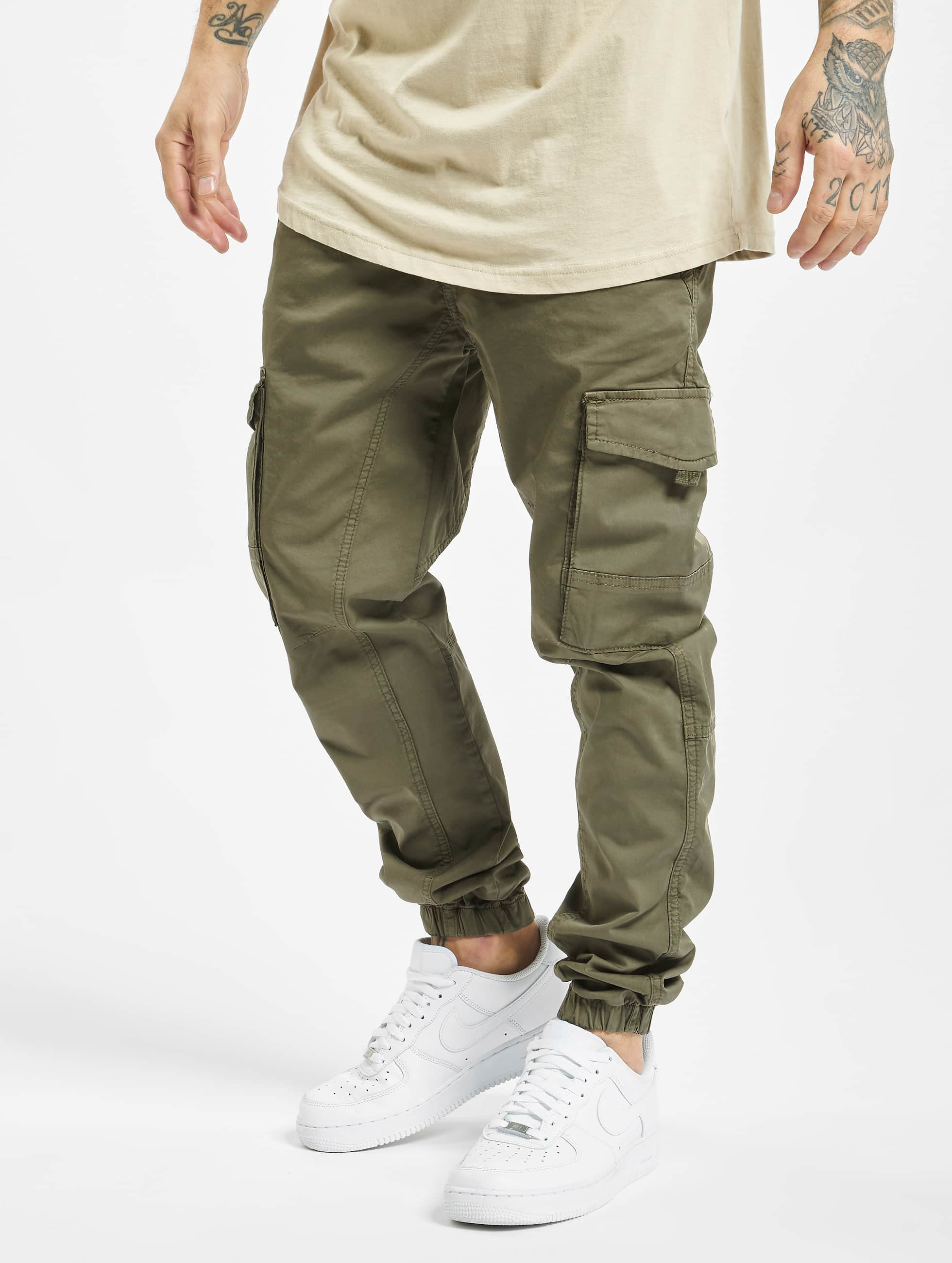 DEF / Slim Fit Jeans Pete in olive W 38 L 34