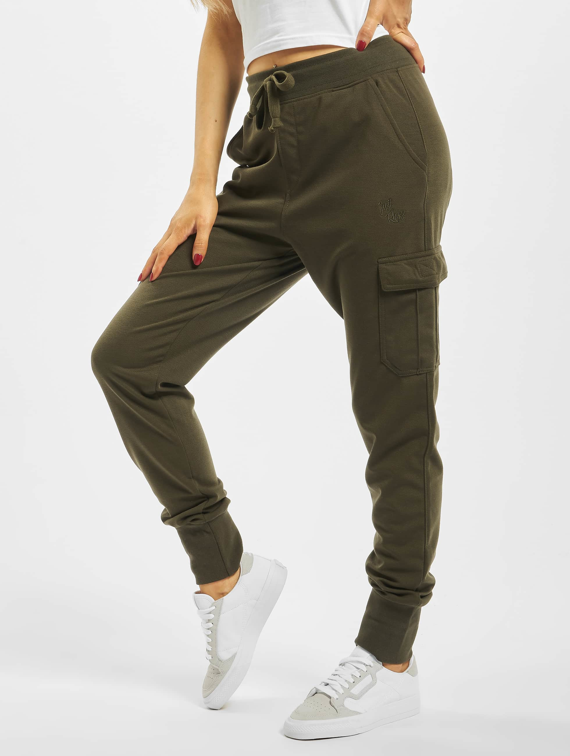 Just Rhyse / Sweat Pant Quepos in olive XS