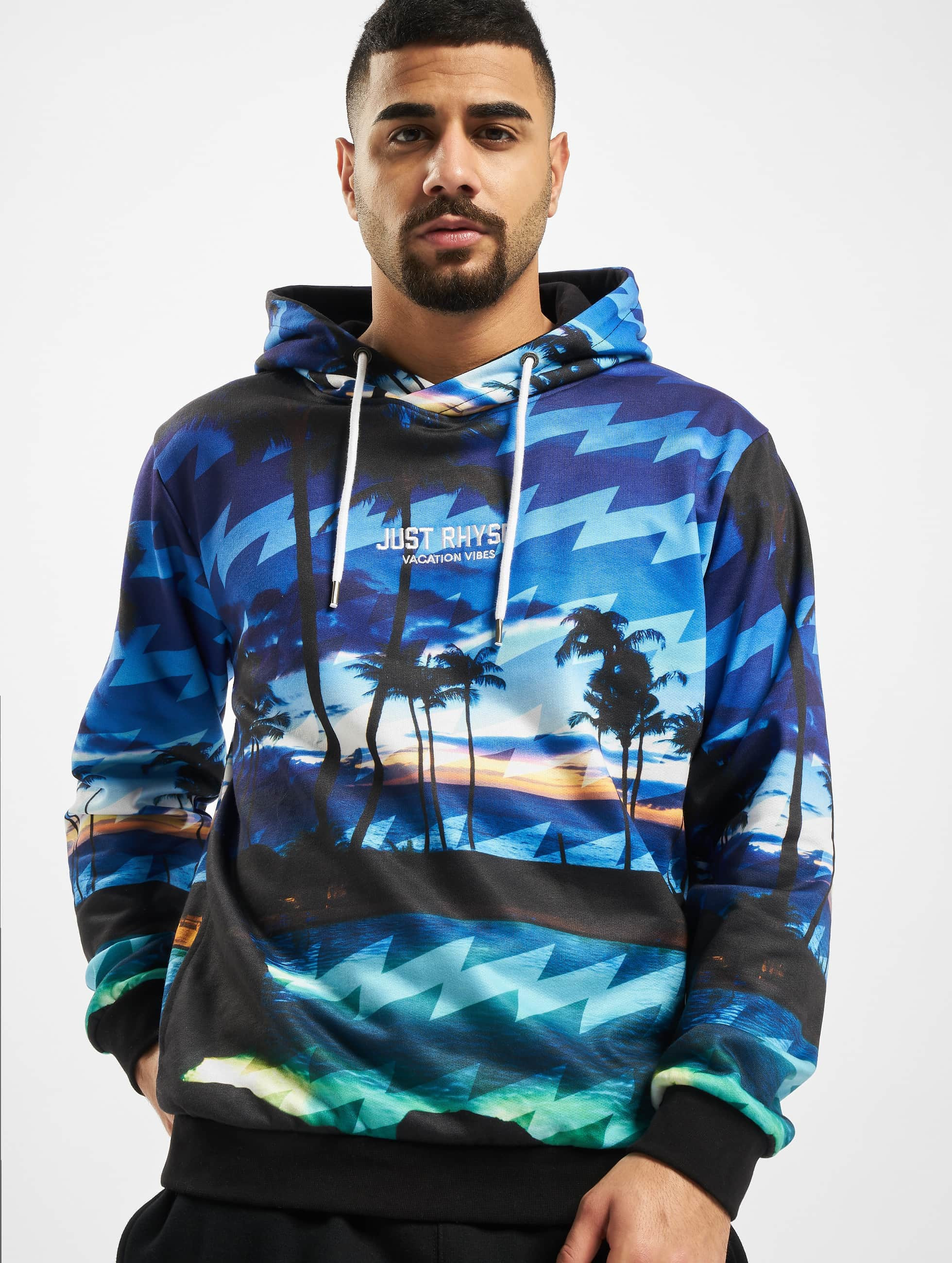 Just Rhyse / Hoodie Palm in blue S