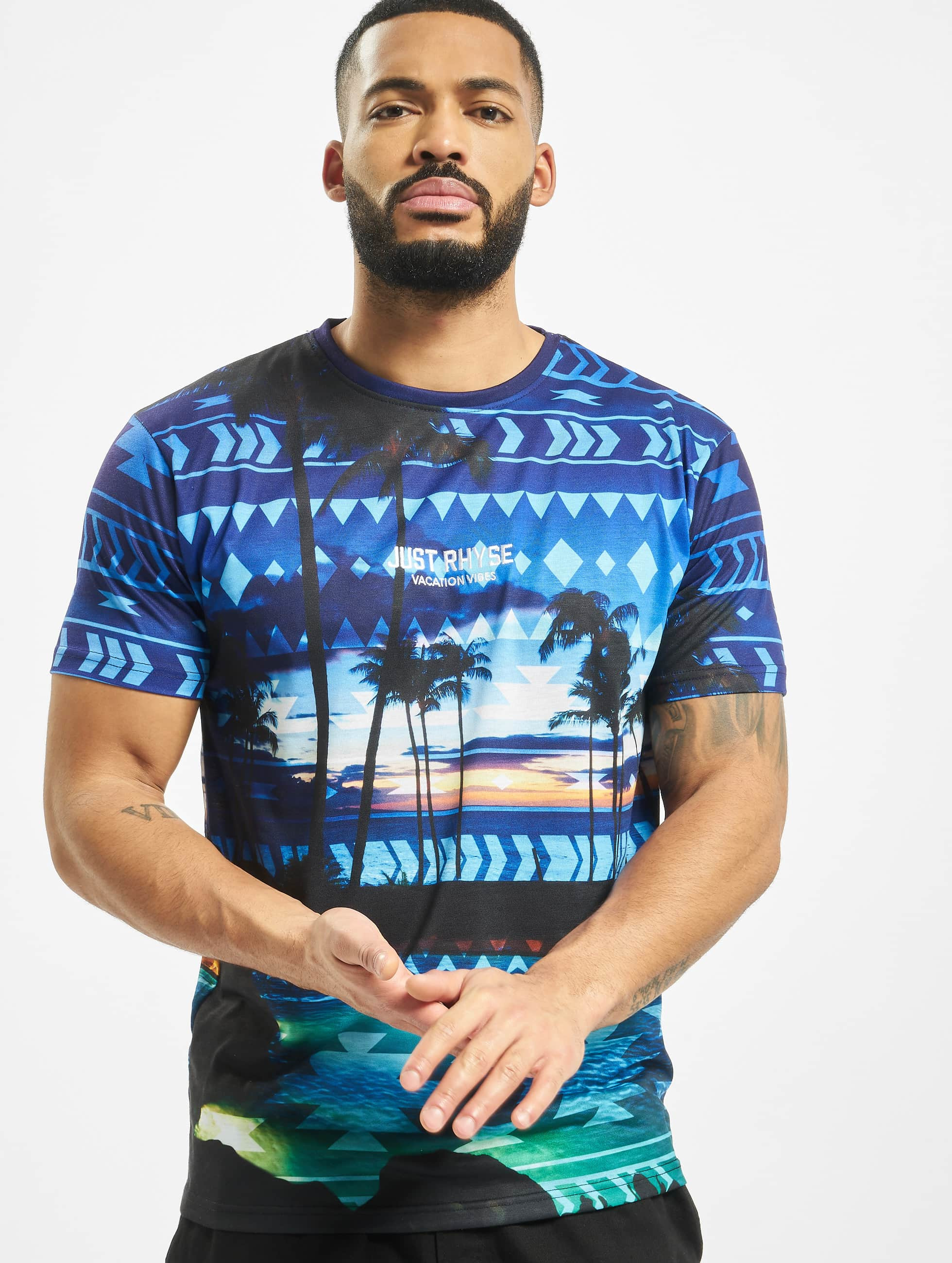 Just Rhyse / T-Shirt Palm Coast in blue S