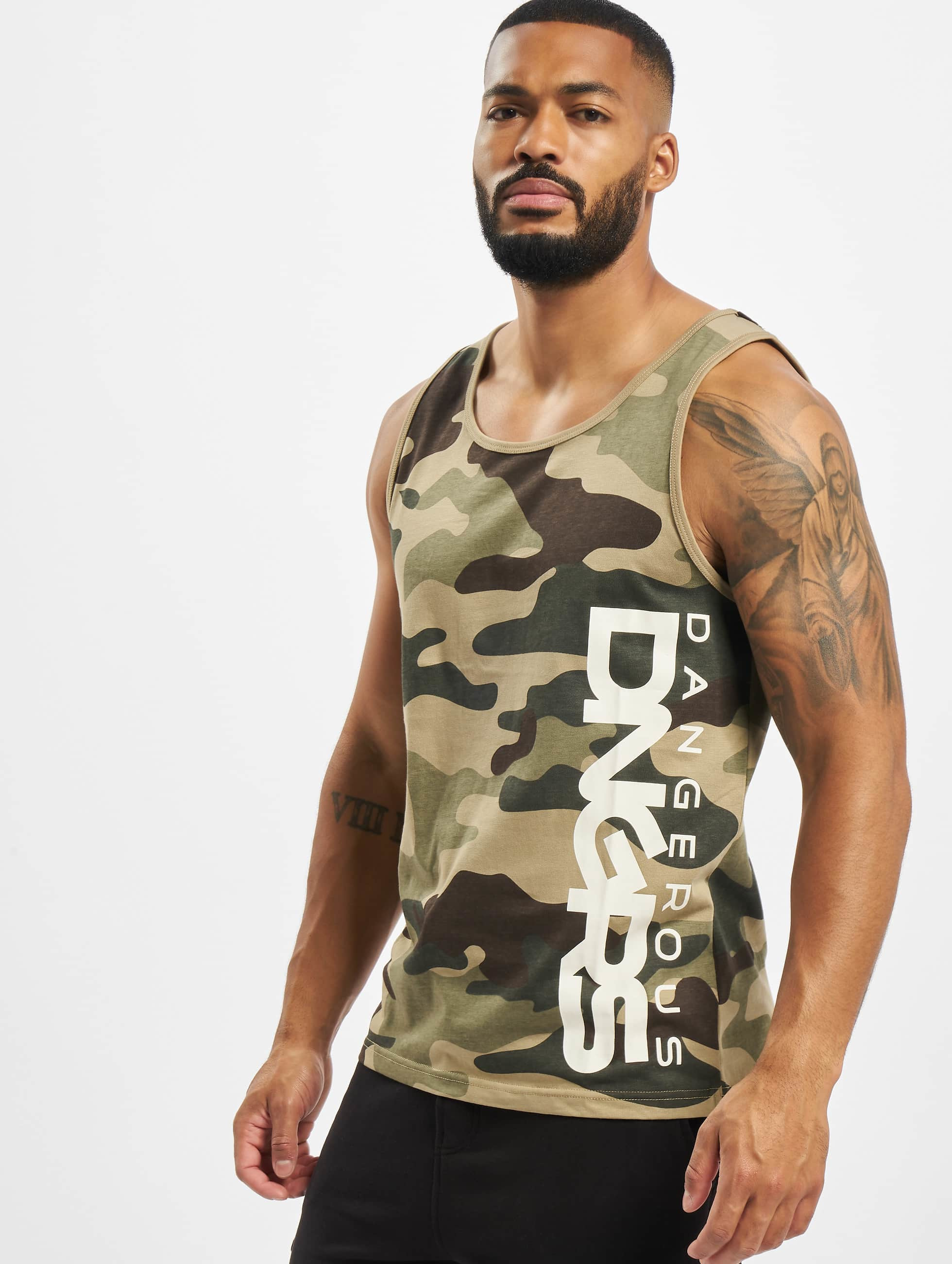 Dangerous DNGRS / Tank Tops Classic in camouflage XL