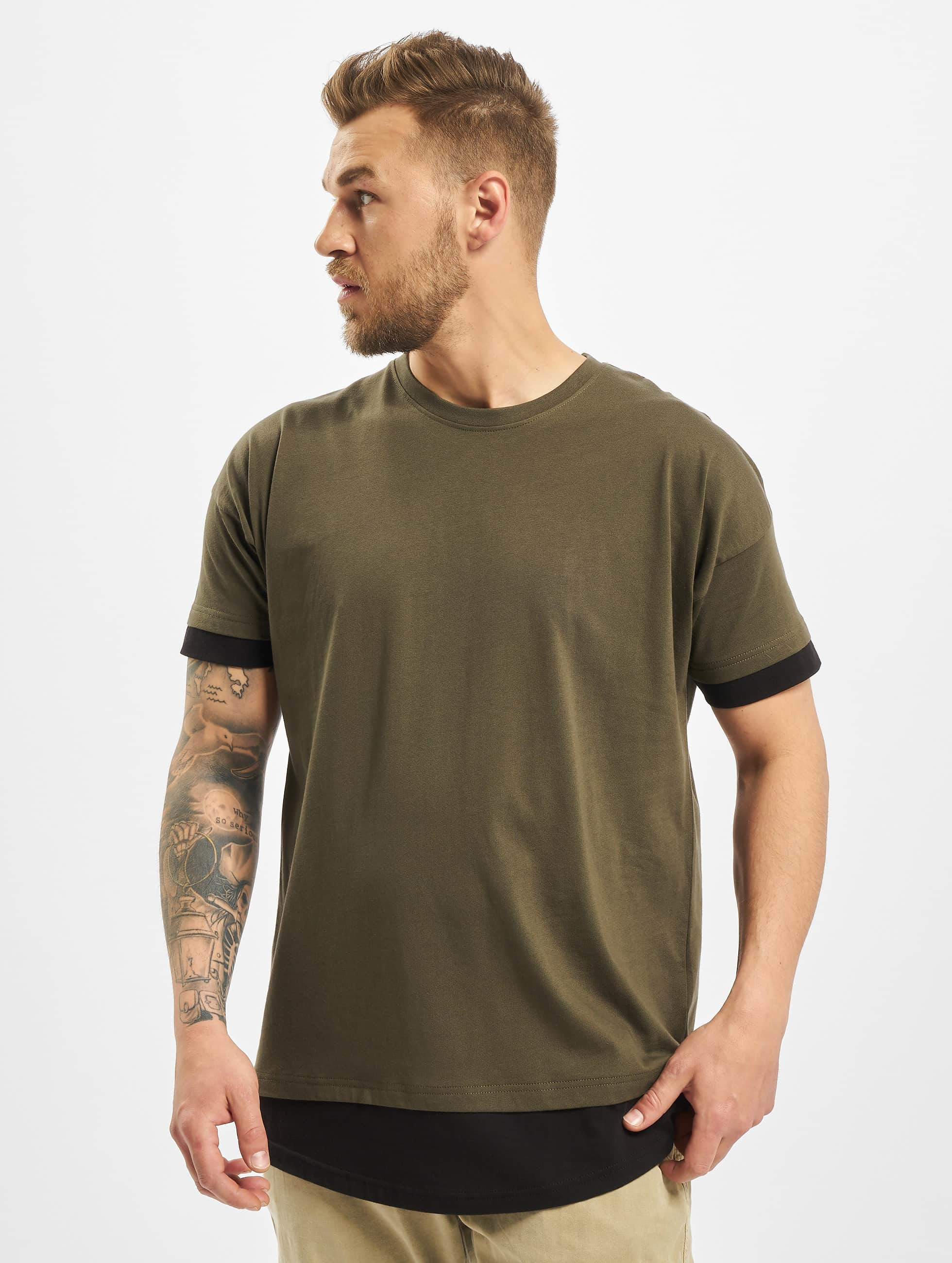 DEF / T-Shirt Tyle in olive 2XL