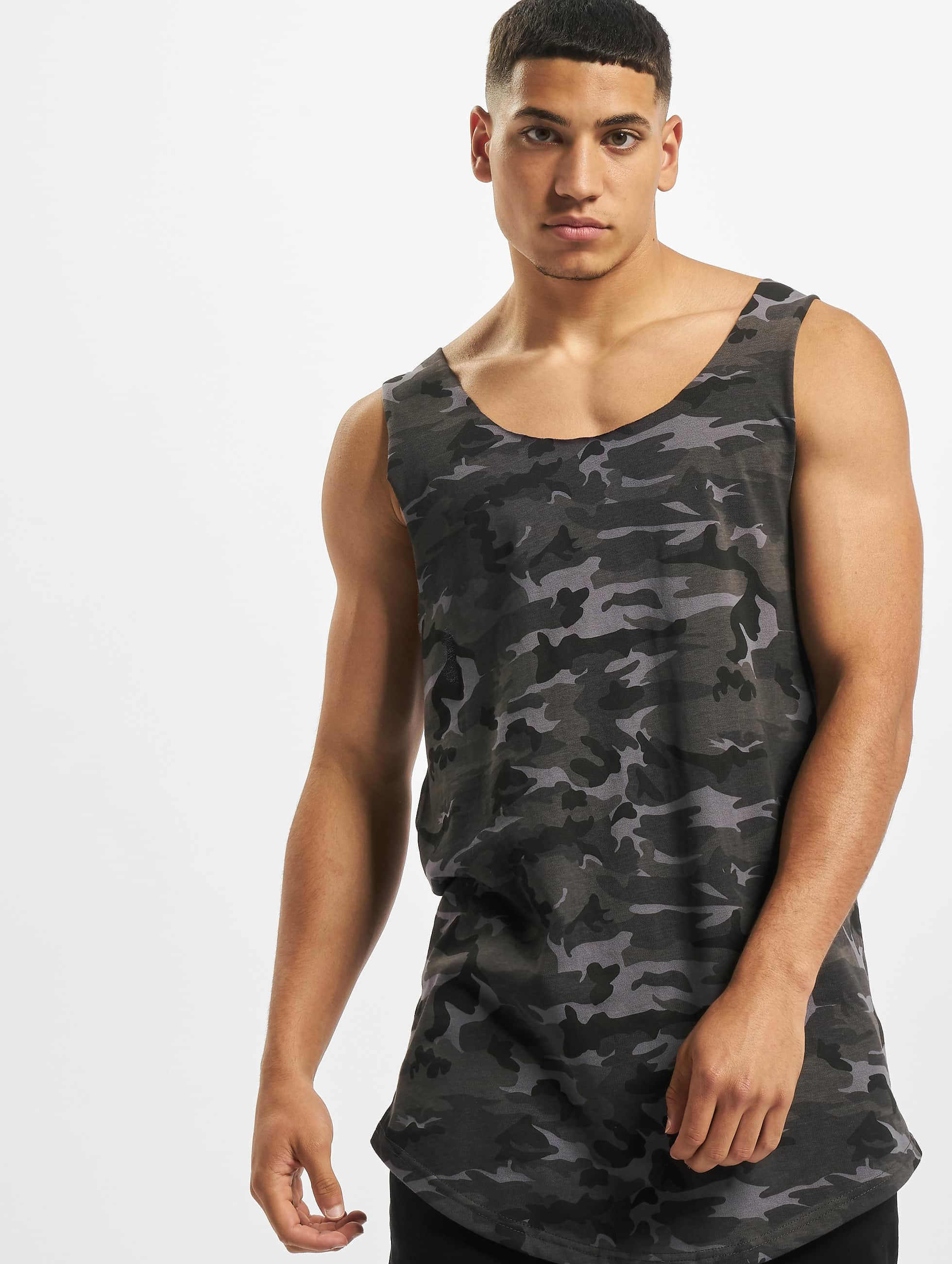 DEF / Tank Tops Basic in camouflage XL