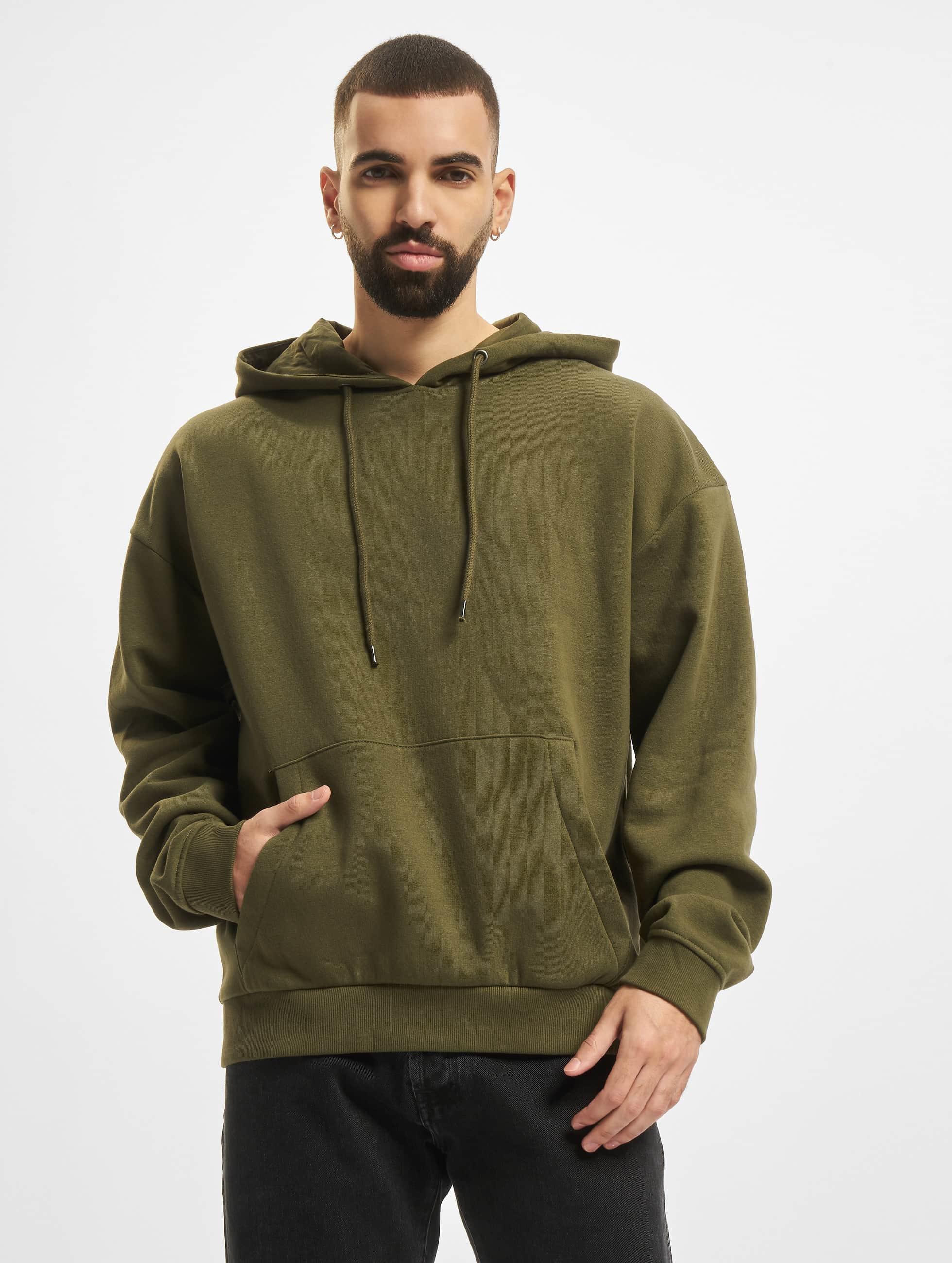 DEF / Hoodie Bommel in olive XL