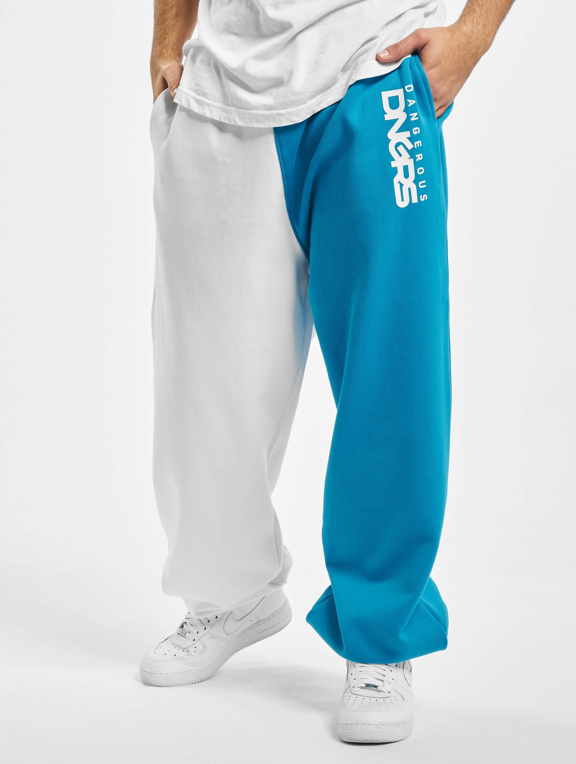 Dangerous DNGRS / Sweat Pant Two-Face in white M