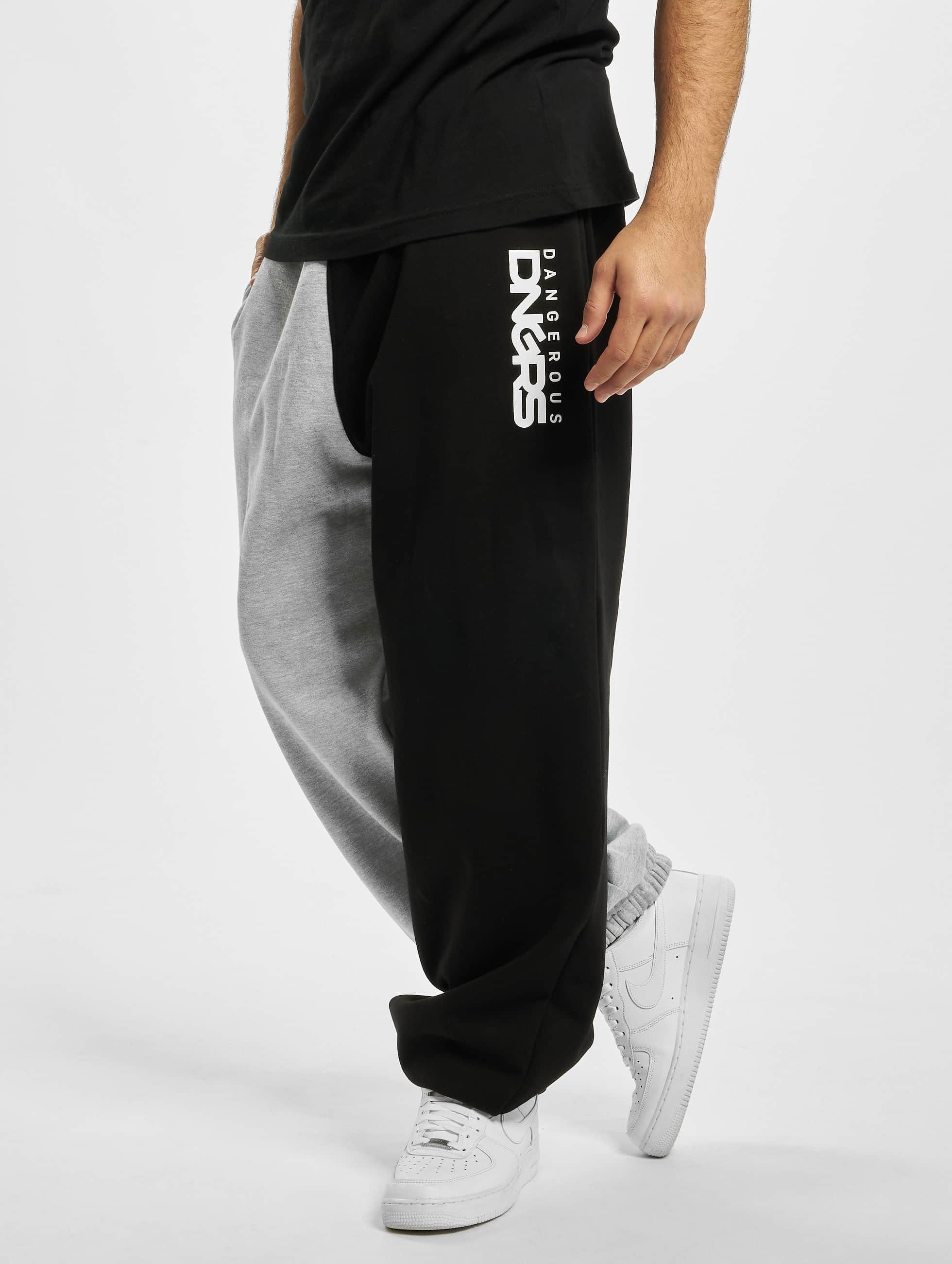 Dangerous DNGRS / Sweat Pant Two-Face in grey XL