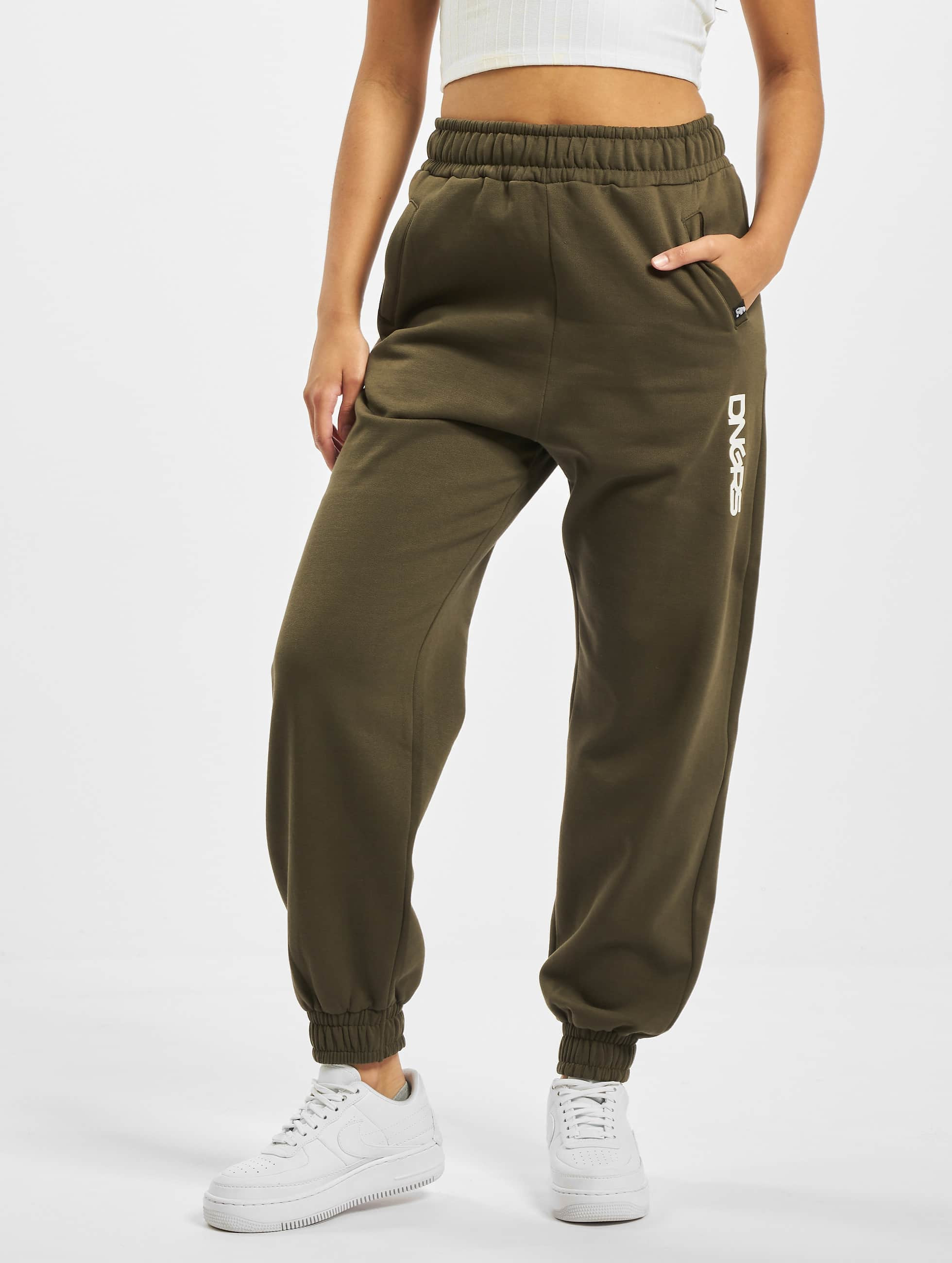 Dangerous DNGRS / Sweat Pant Soft Dream Leila Ladys Logo in olive XS