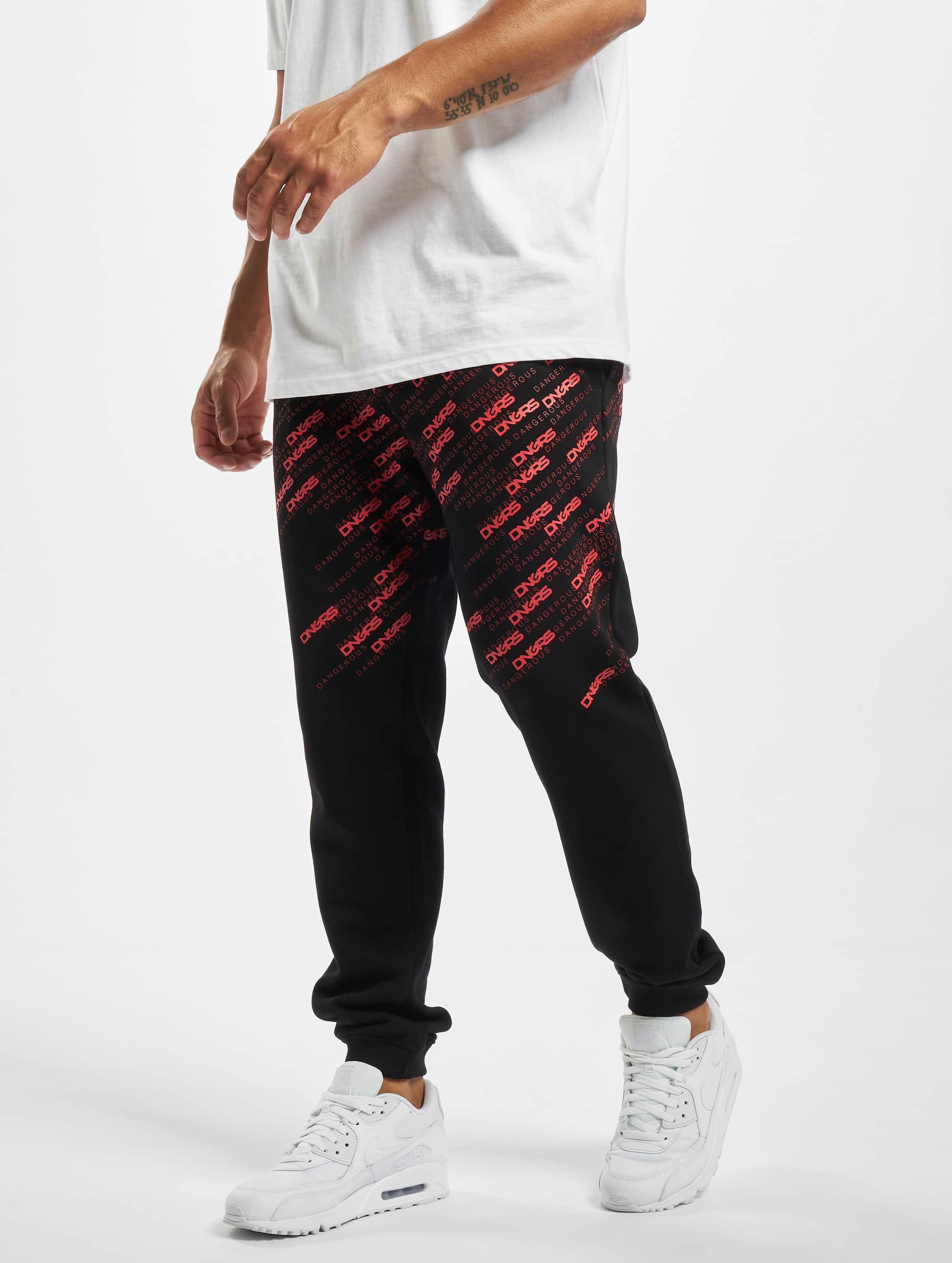 Dangerous DNGRS / Sweat Pant Swig in black XL