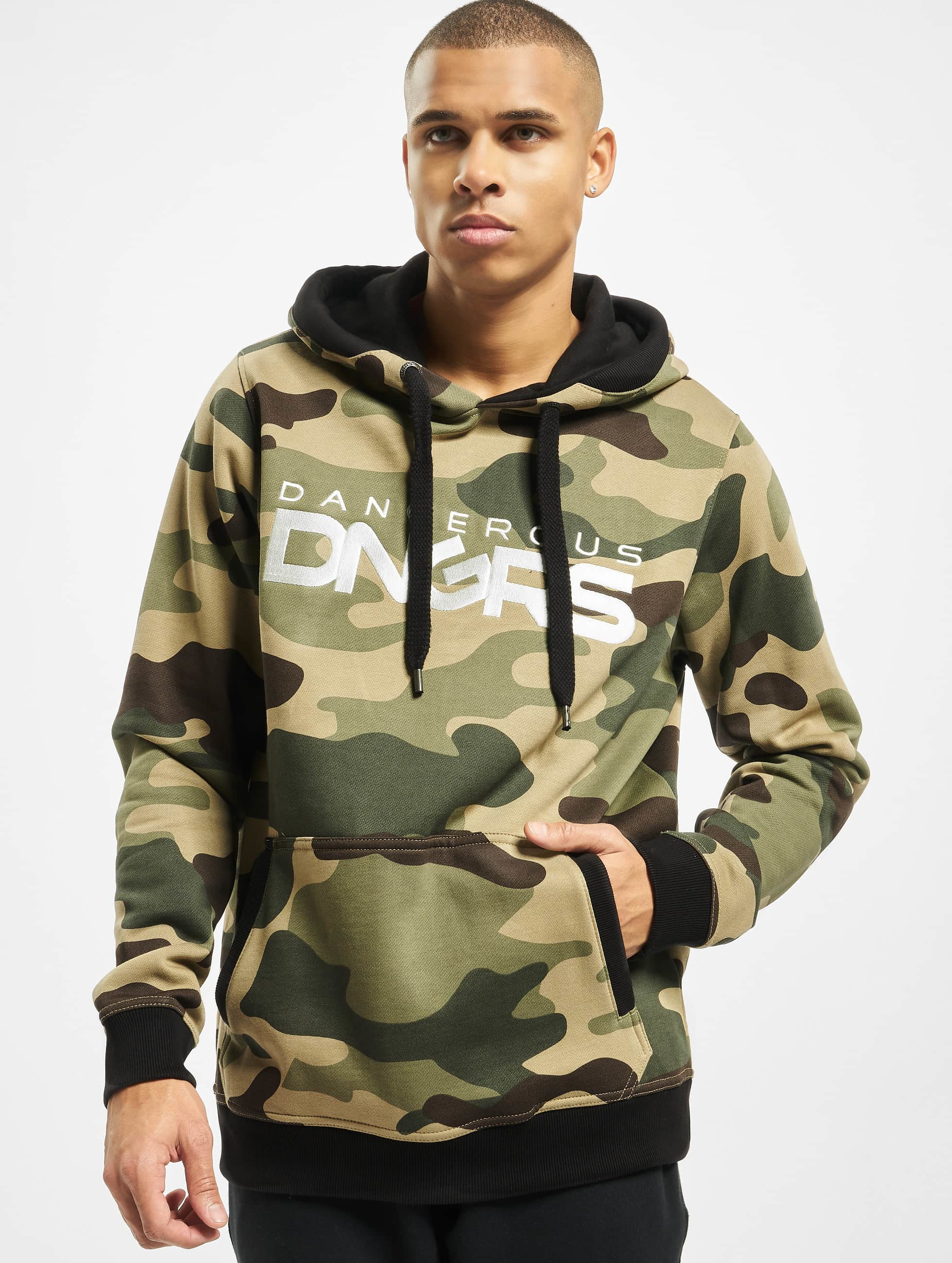 Dangerous DNGRS / Hoodie Classic in camouflage S