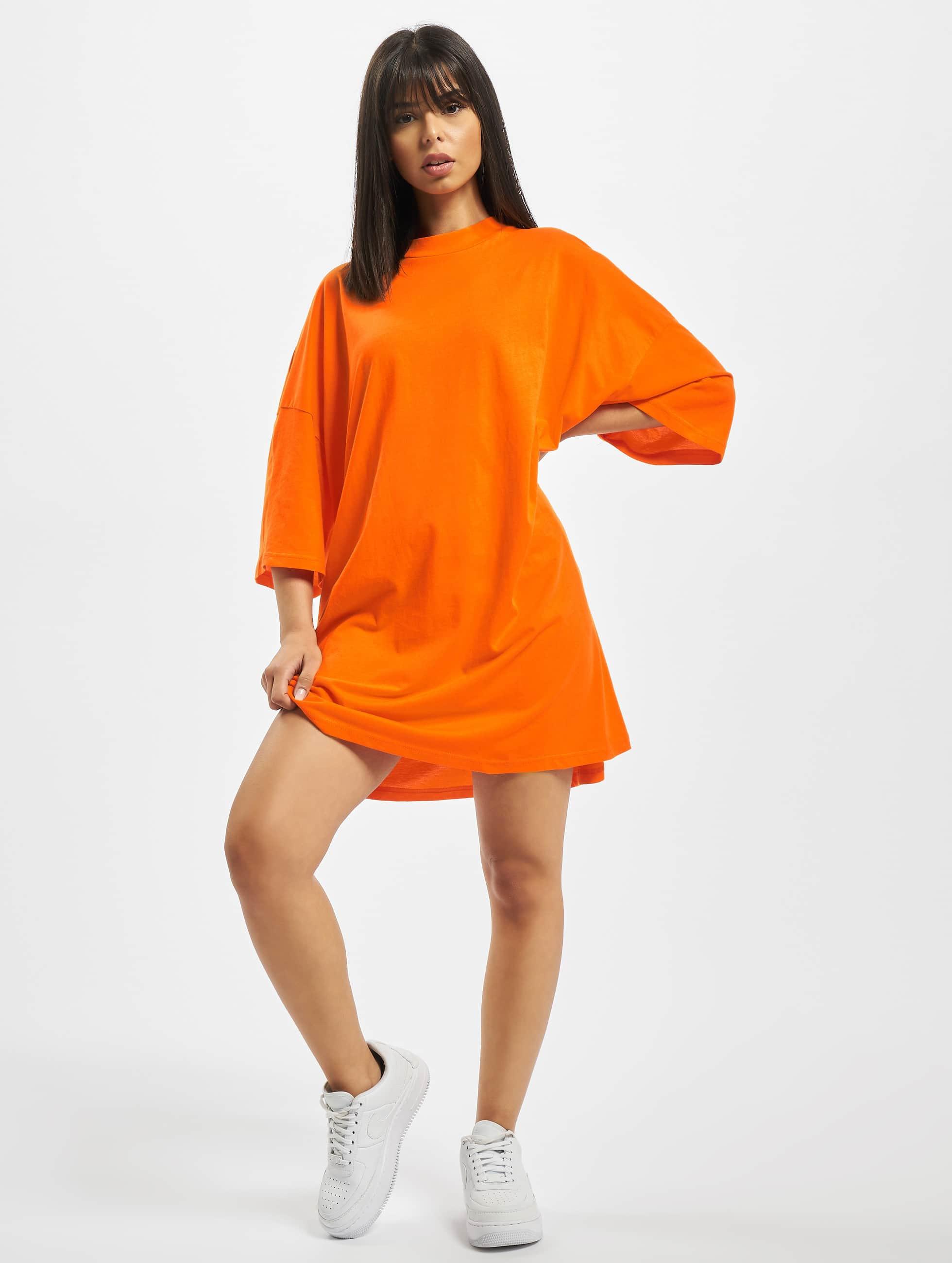 DEF / Dress Harper in orange S/M