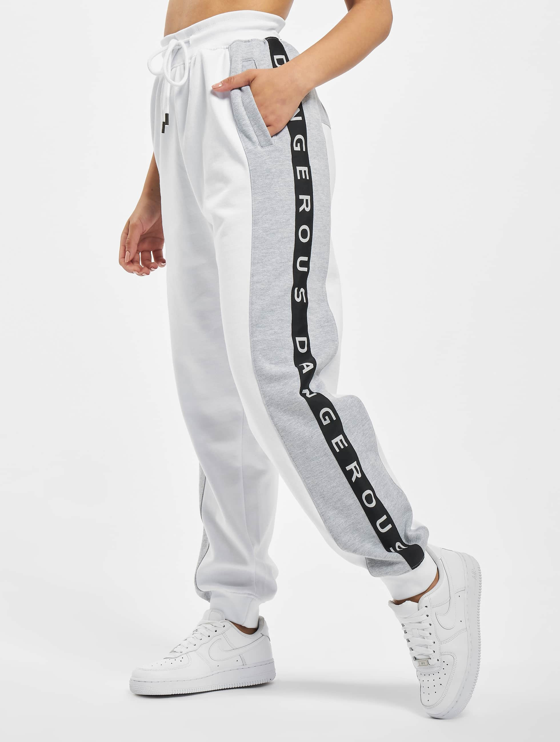Dangerous DNGRS / Sweat Pant Weare in white S