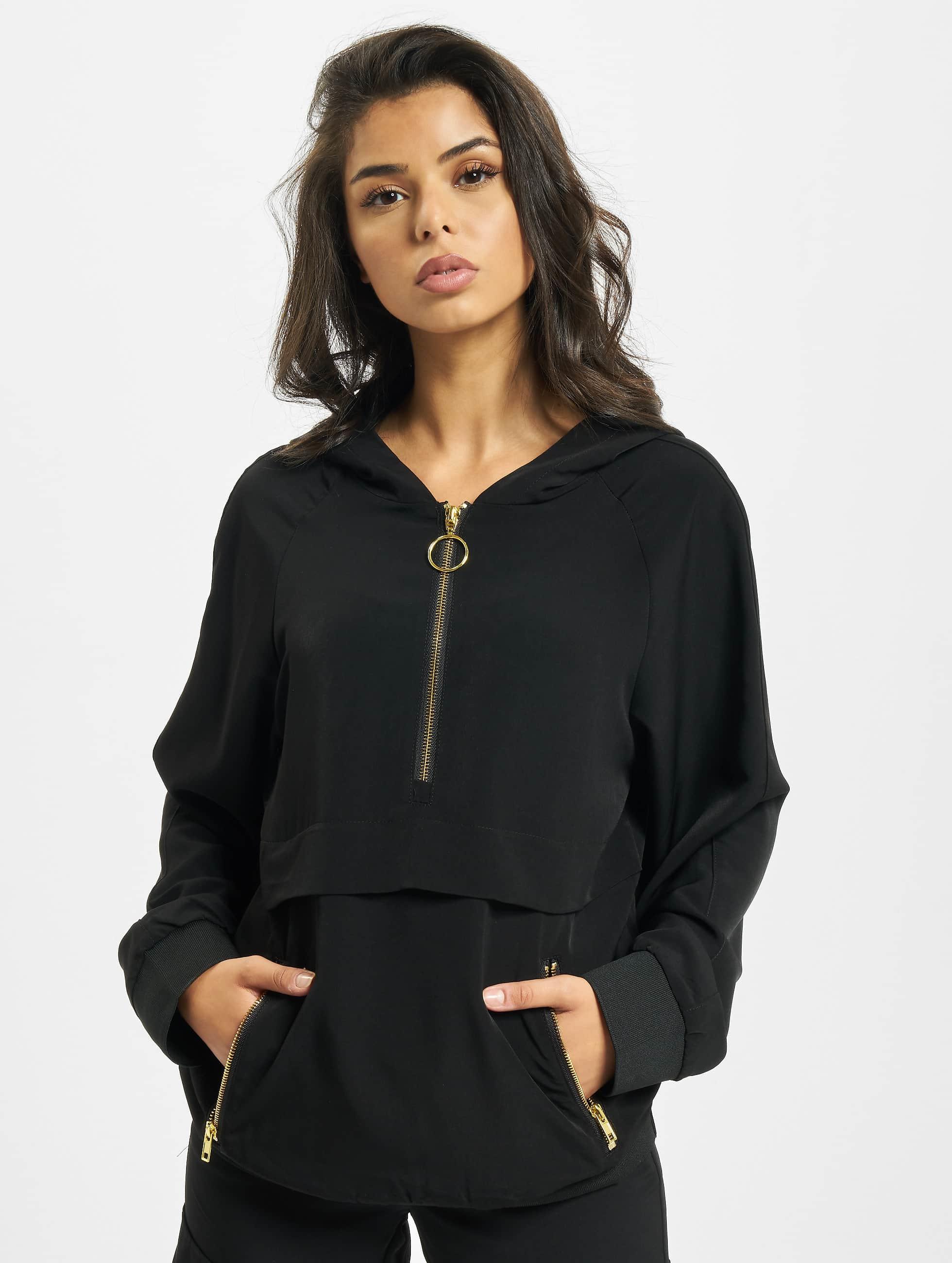 DEF / Hoodie Marja Woven in black XS