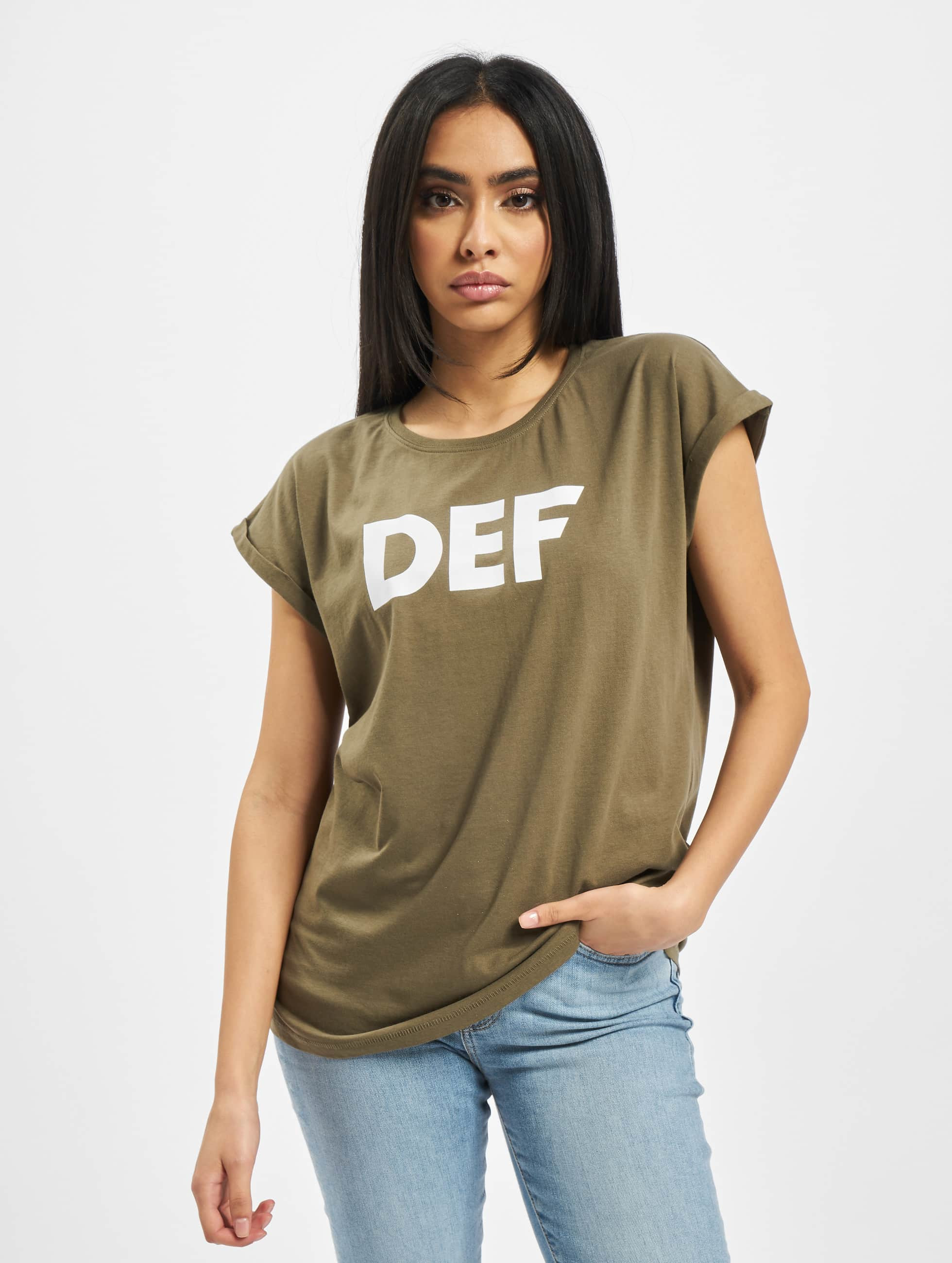 DEF / T-Shirt Sizza in olive XS