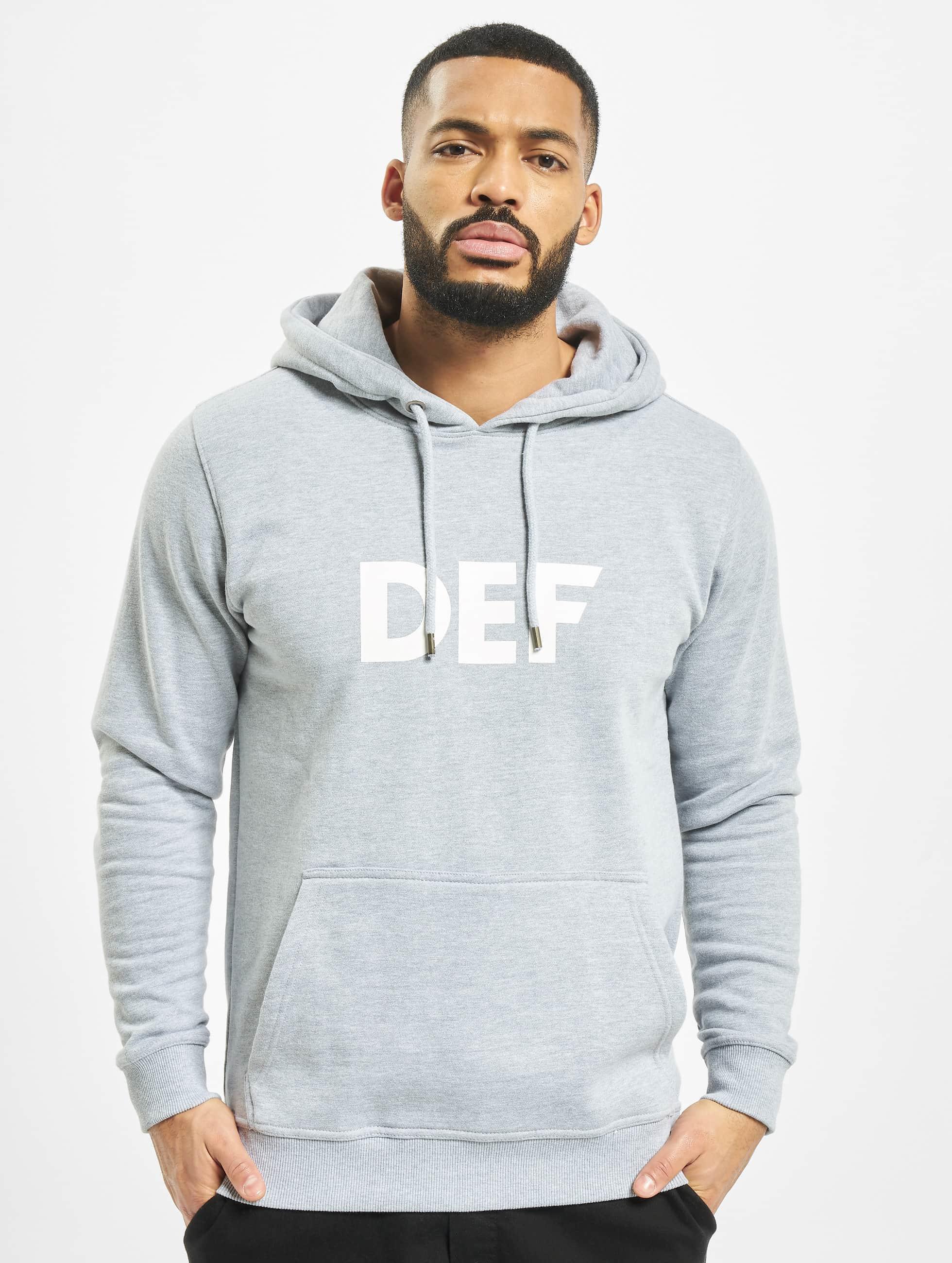 DEF / Hoodie Til Death in grey XL