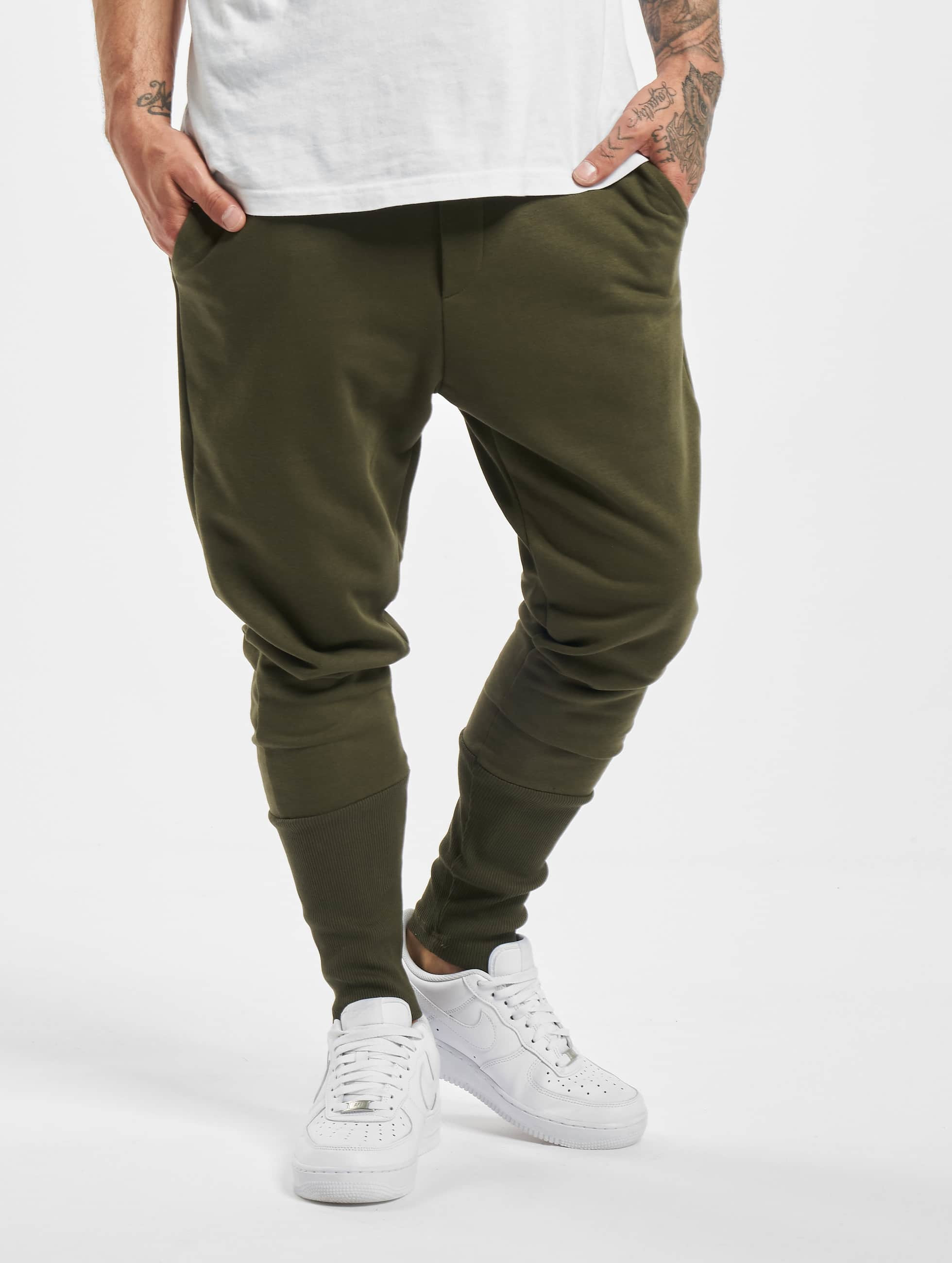 DEF / Sweat Pant Cliff in olive 2XL