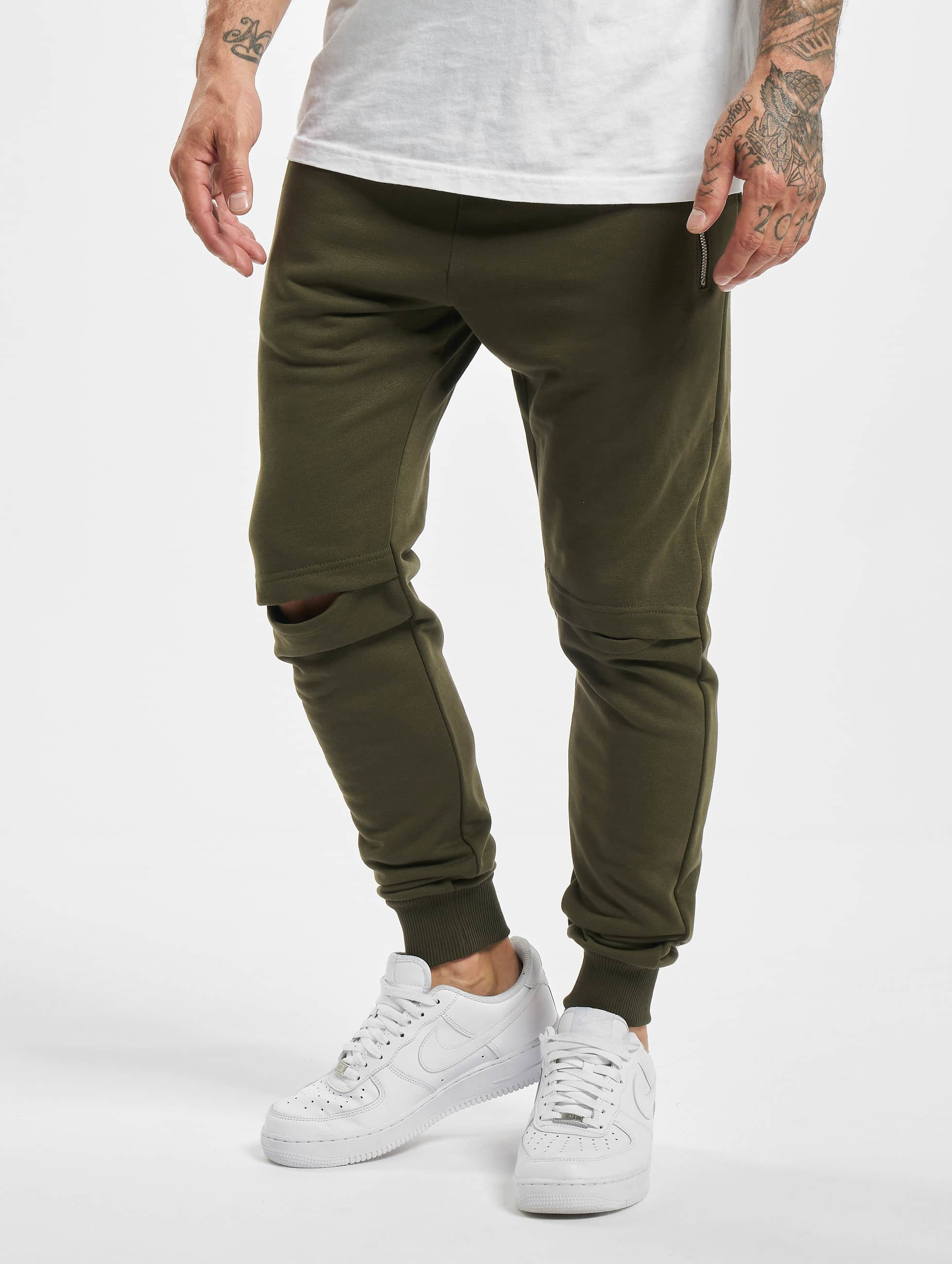 DEF / Sweat Pant Rider in olive S