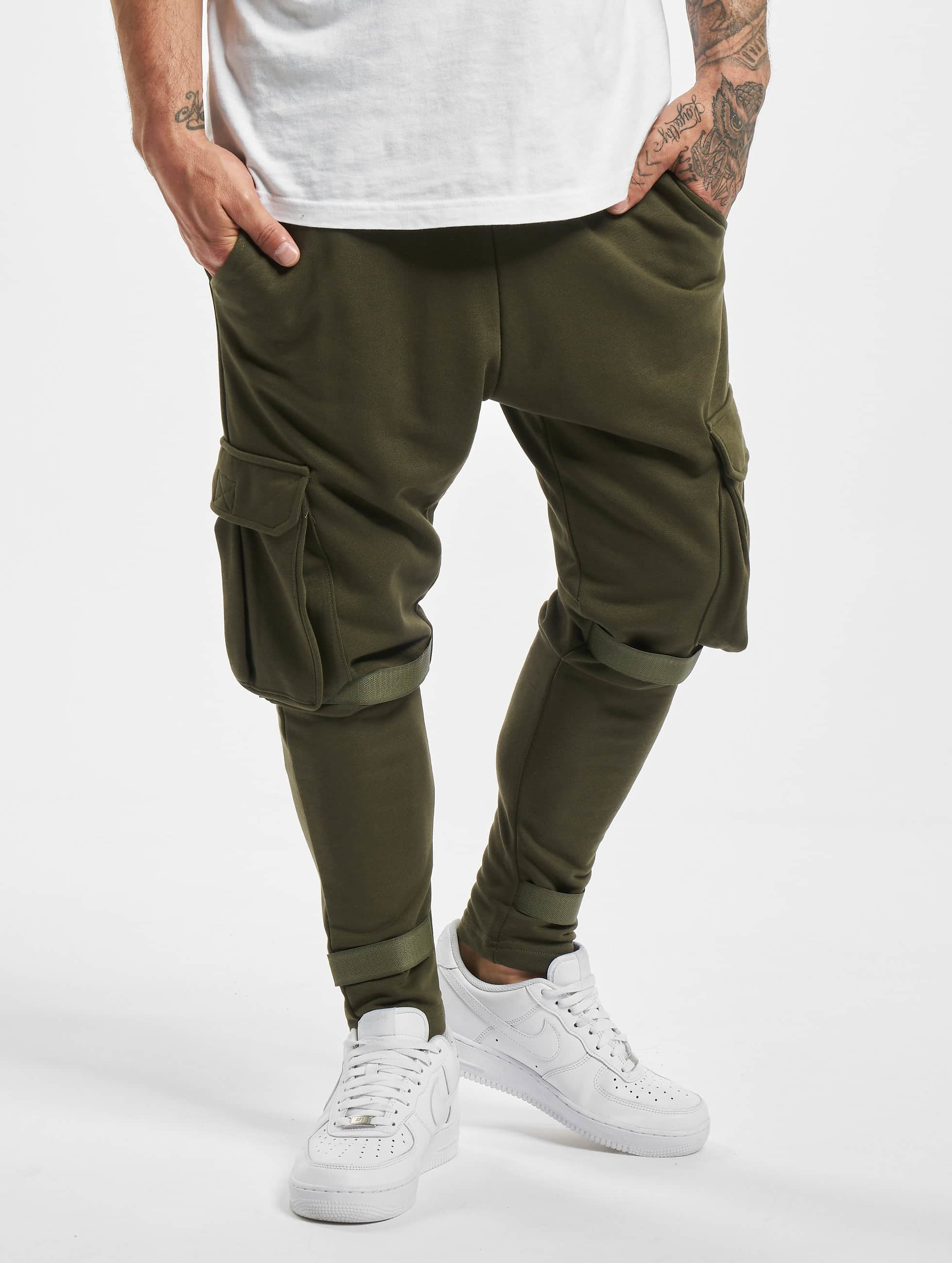 DEF / Sweat Pant Coda in olive XL