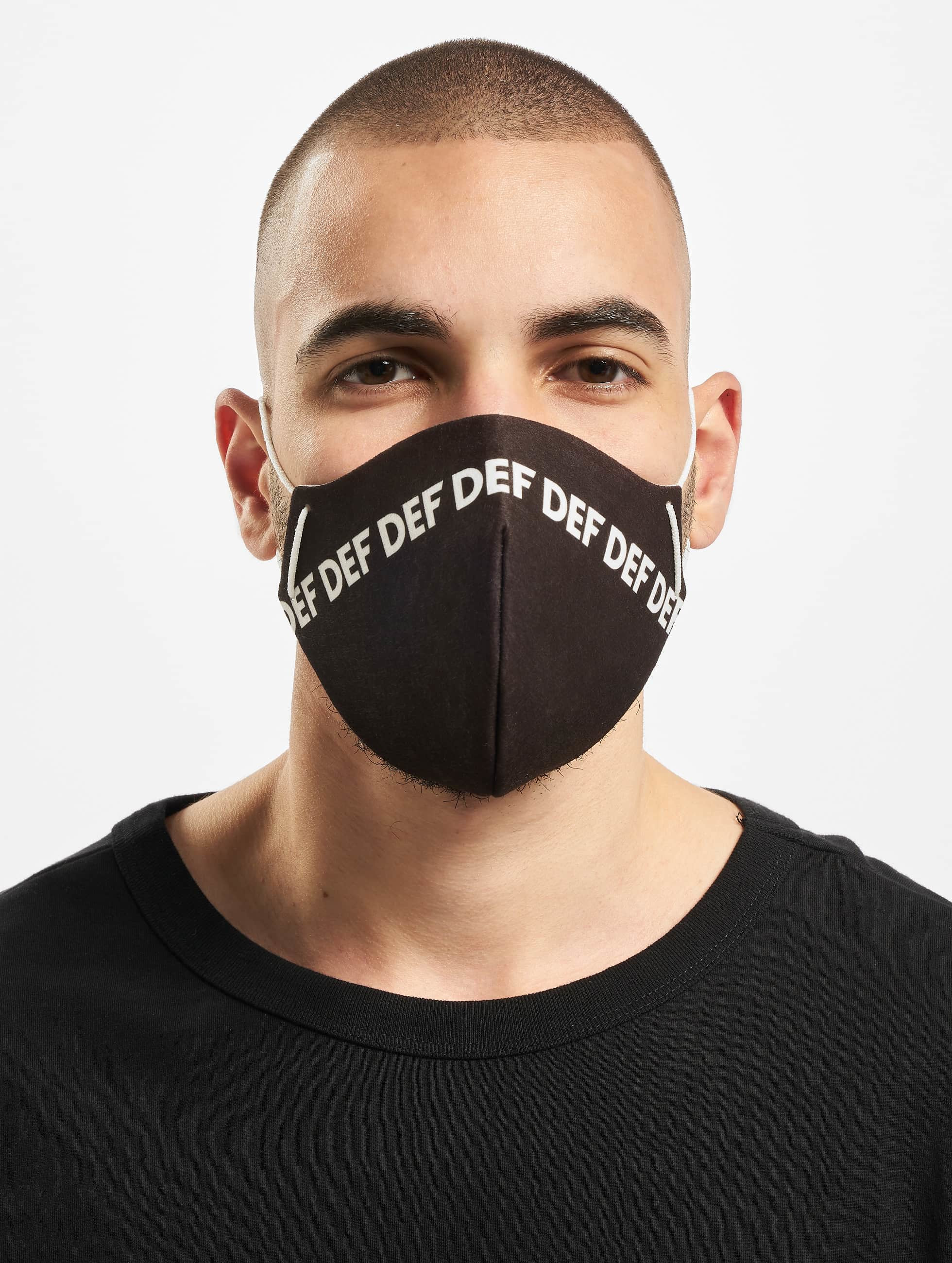 DEF / More Face Mask in black One Size