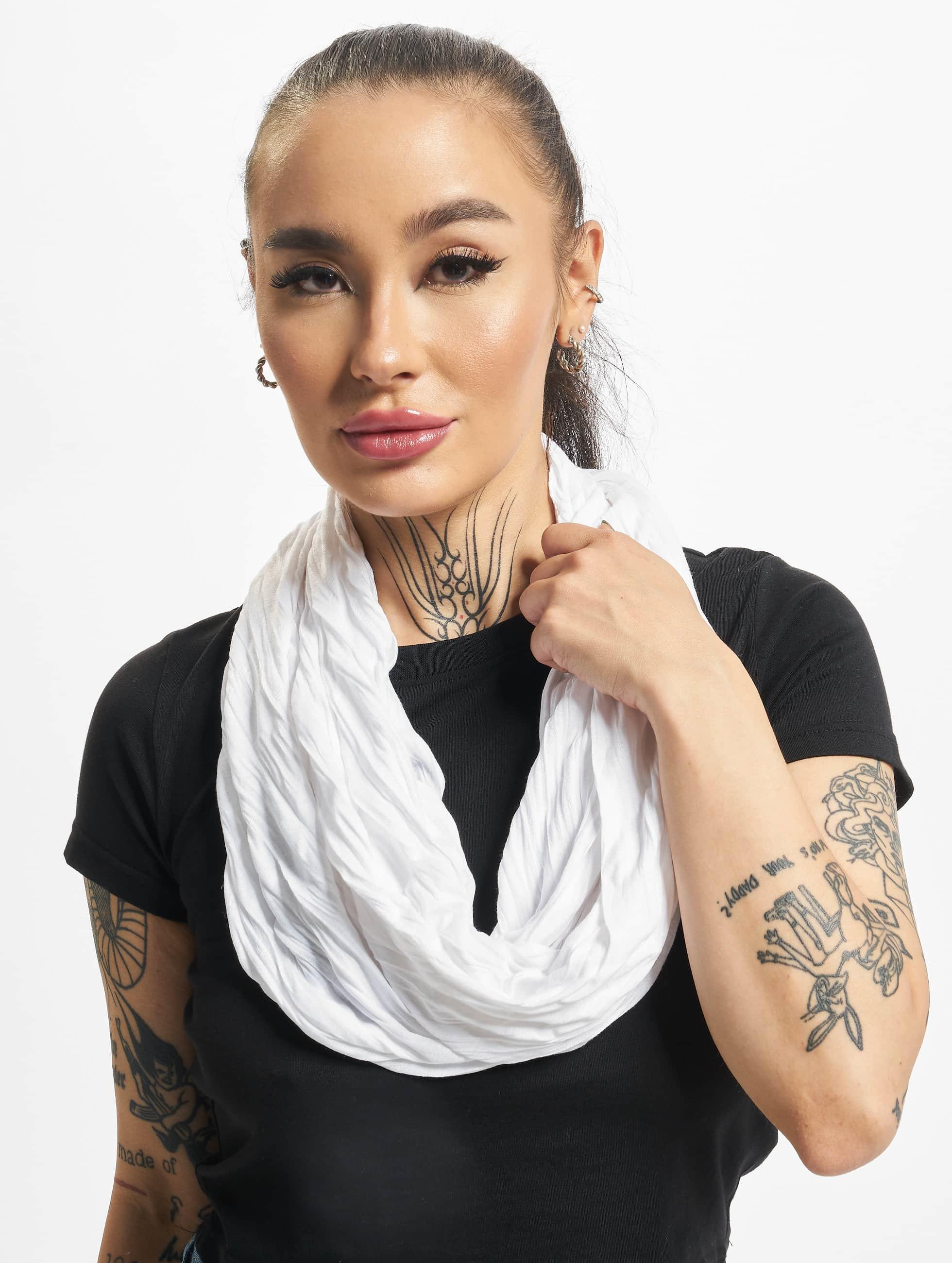 MSTRDS Männer,Frauen Schal Wrinkle Loop in weiß