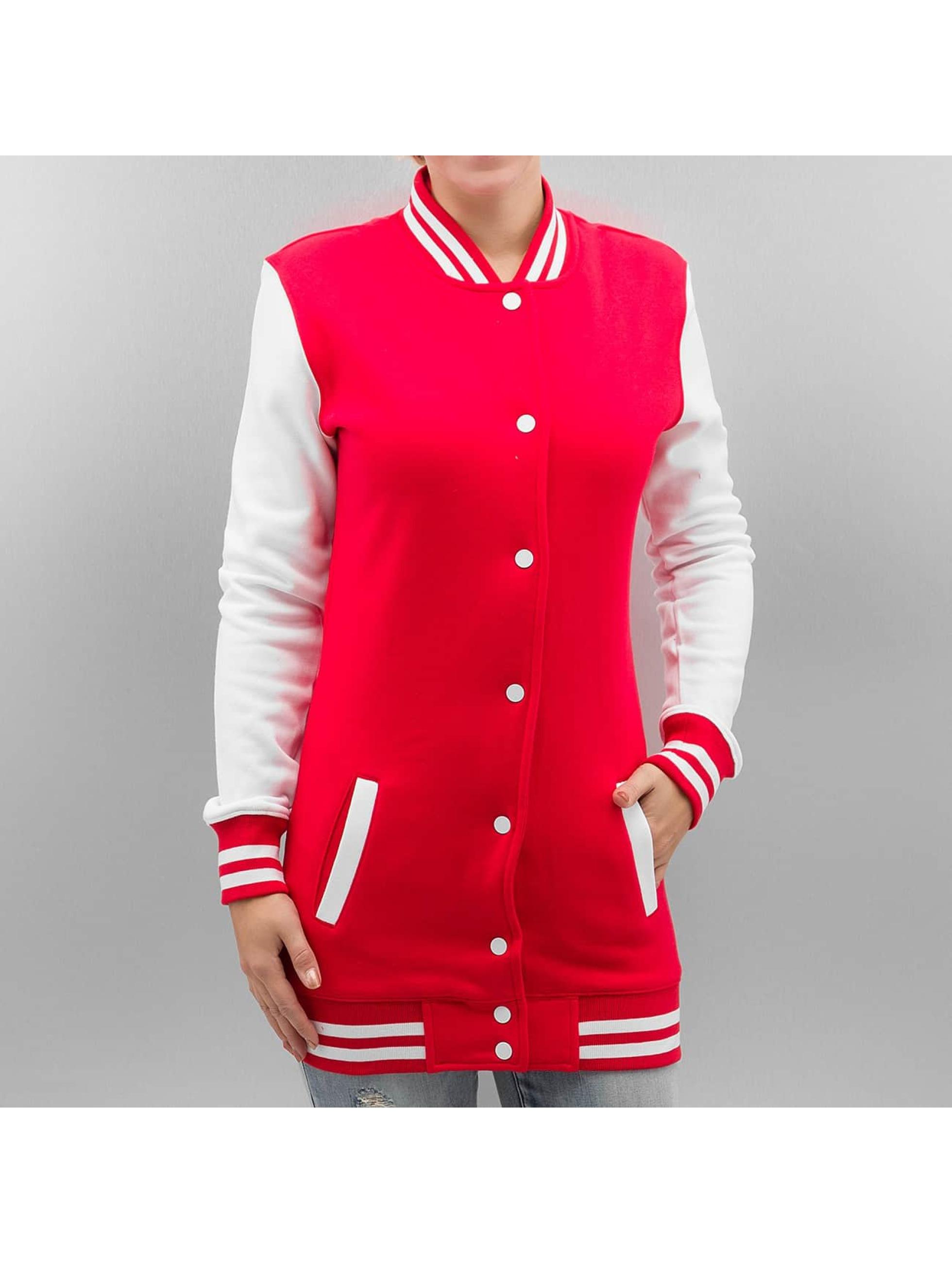 Urban Classics Frauen College Jacke Ladies Long in rot