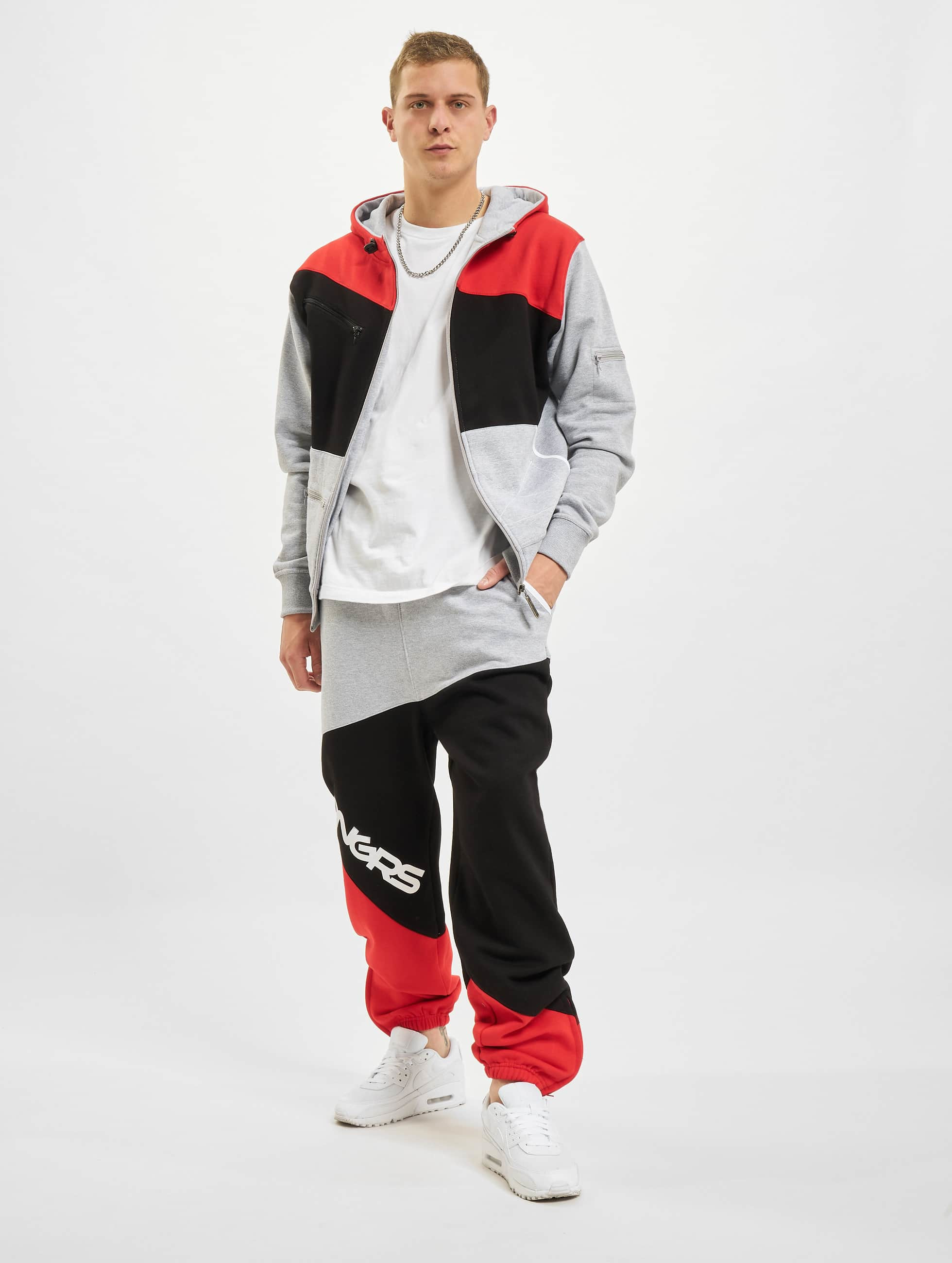 Dangerous DNGRS Sweat Suit Grey Black Red