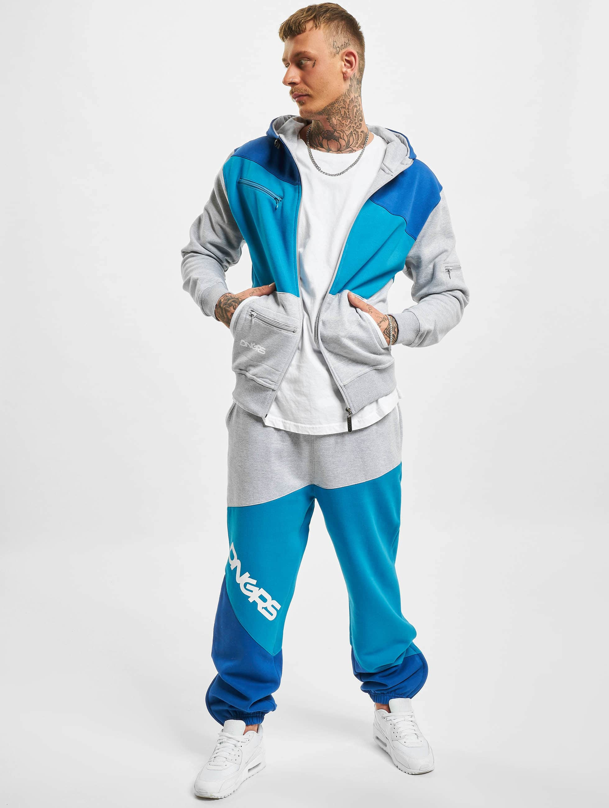 Dangerous DNGRS Sweat Suit Grey Blue Denim