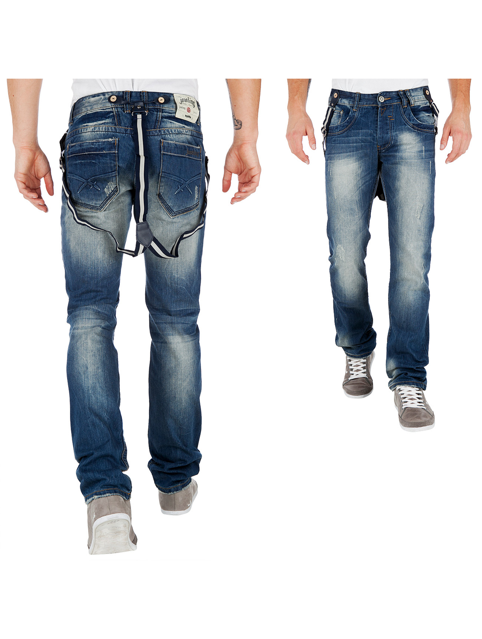 Justing Jeans Braces Jeans Light Blue