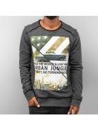 Urban Surface Urban Jungle Sweatshirt Black Melange kopen in de aanbieding